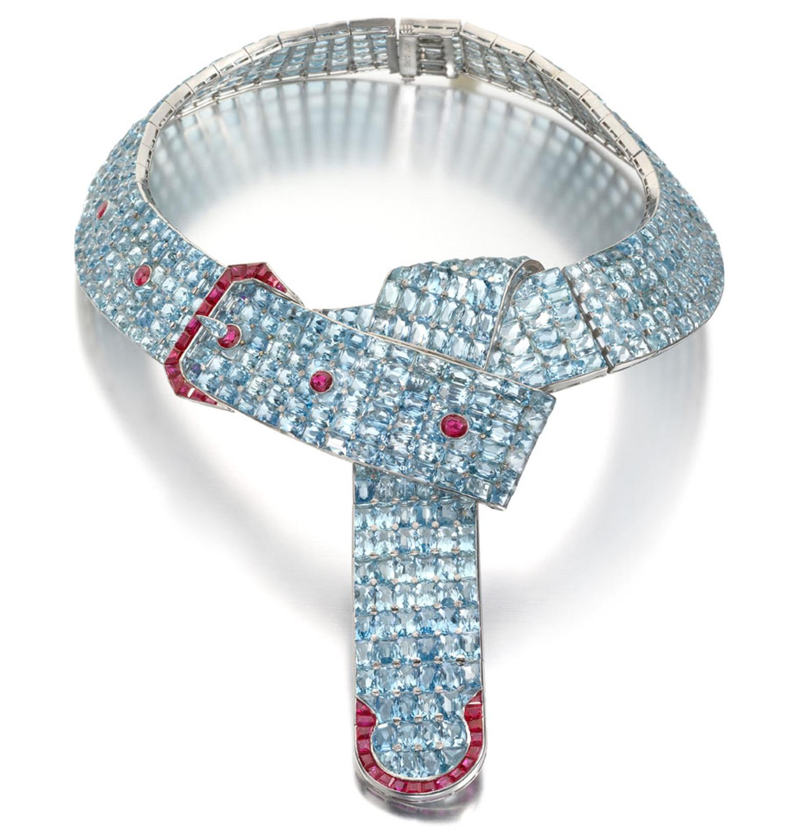 MPL-2013-Siegelson-aquamarine-and-ruby-belt-with-buckle-necklace-designed-by-fulco-duke-of-Verdura-for-Paul-Flat-circa-1935