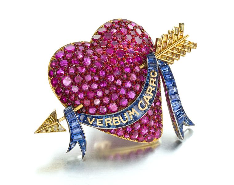 MPL-2013-Siegelson-ruby-sapphire-yellow-diamond-and-enamel-heart-brooch-by-paul-flato-new-york-circa-1938