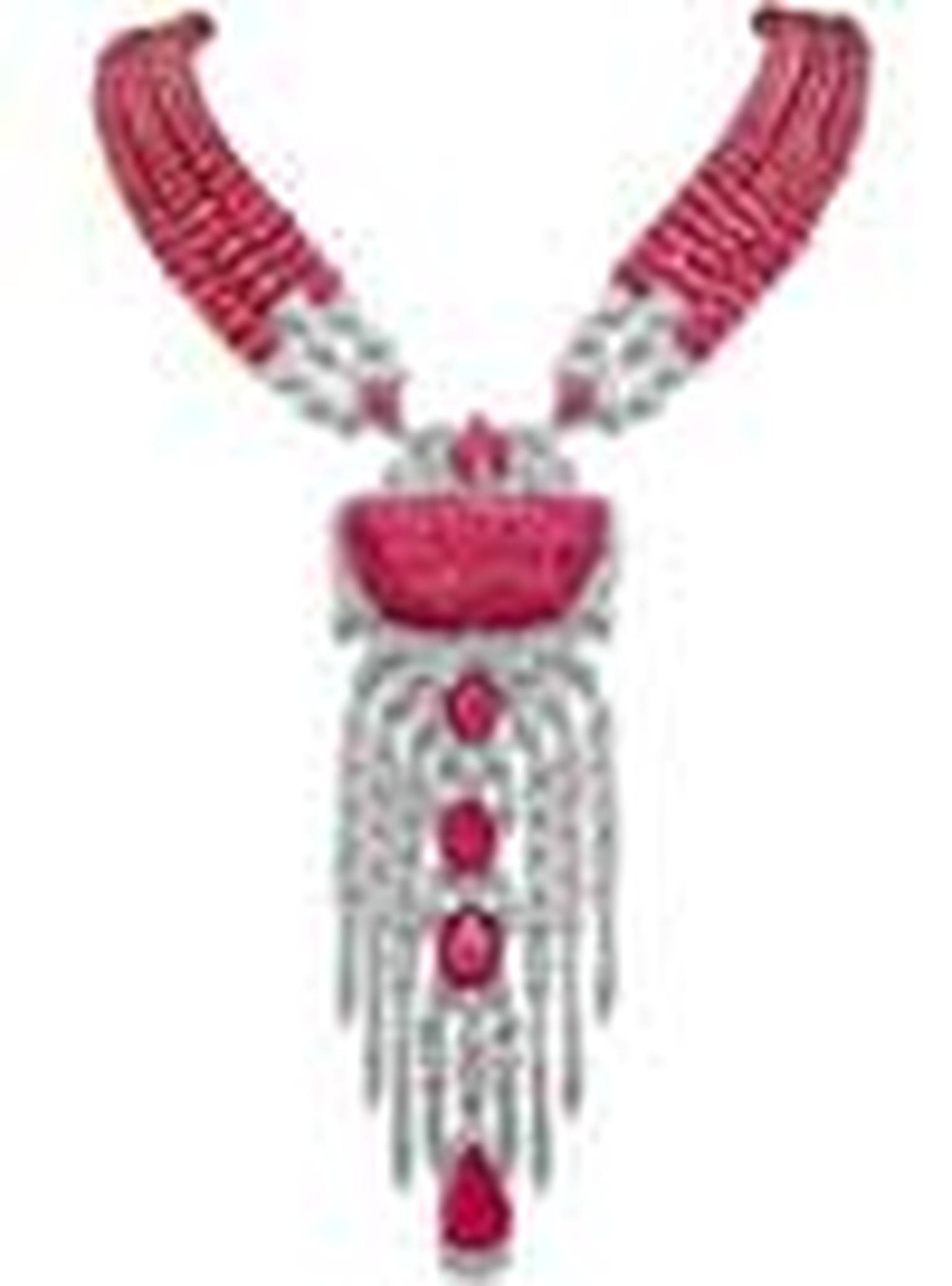 House of Rose ruby necklace