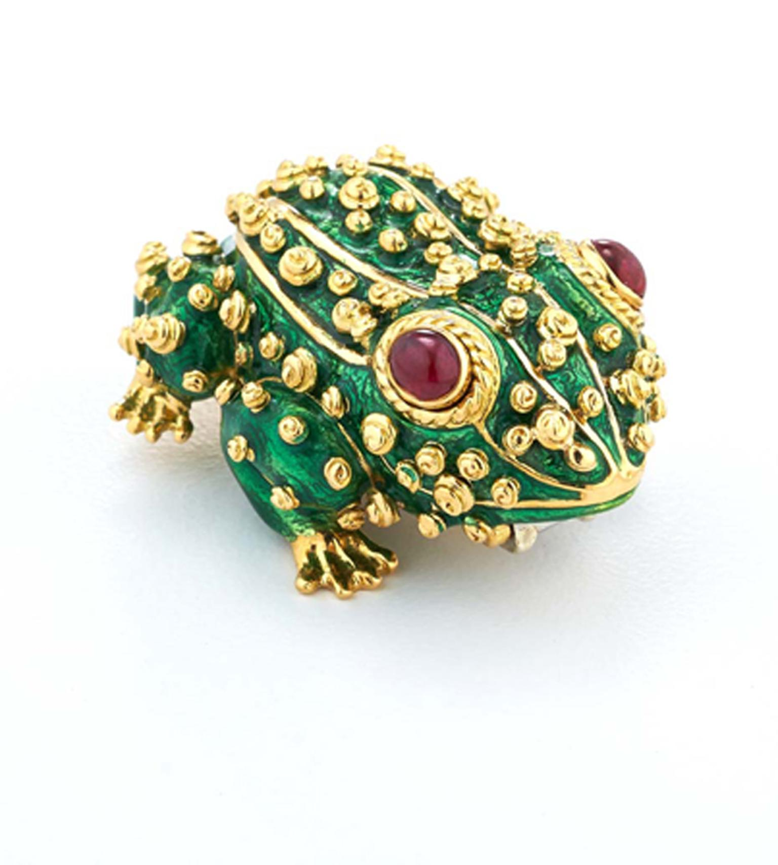 David Webb Frog Brooch