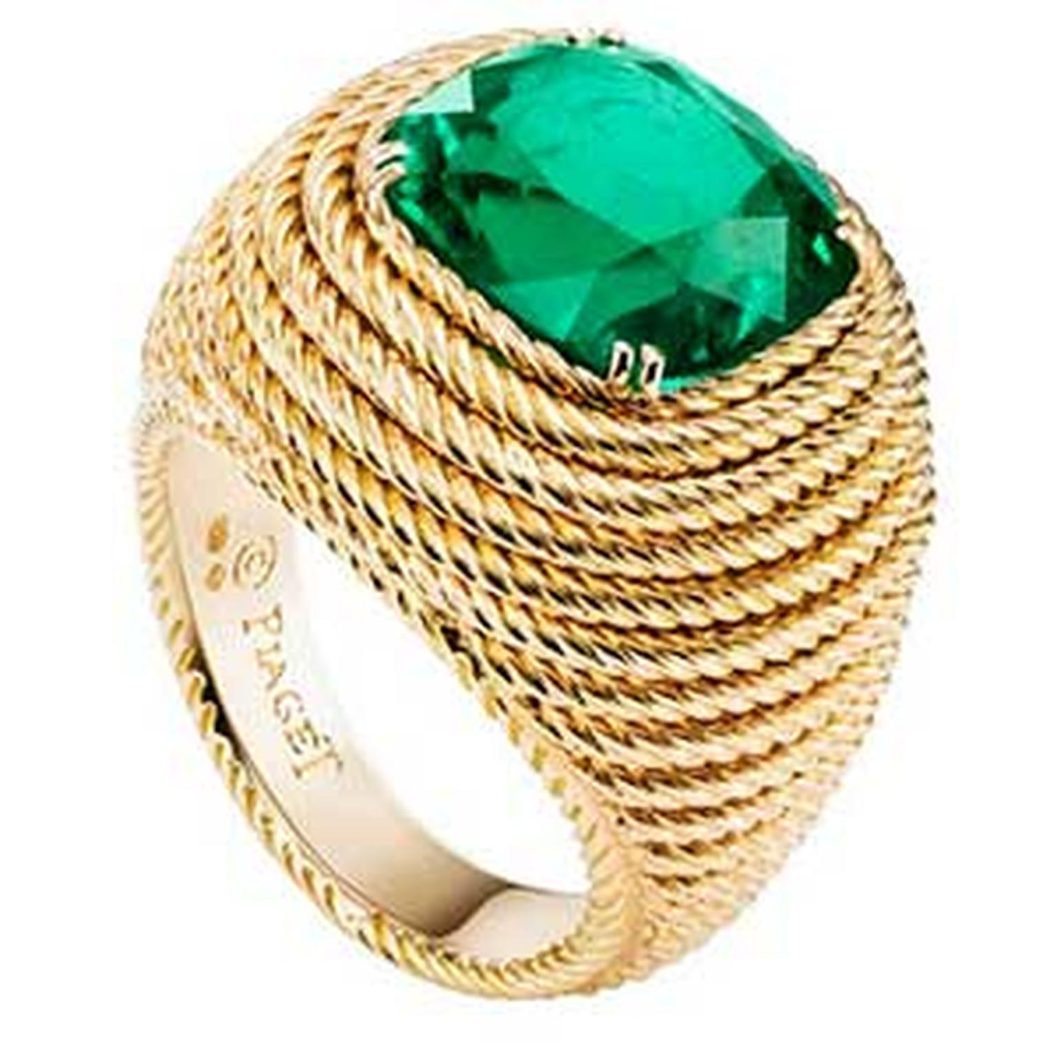 Piaget emerald ring