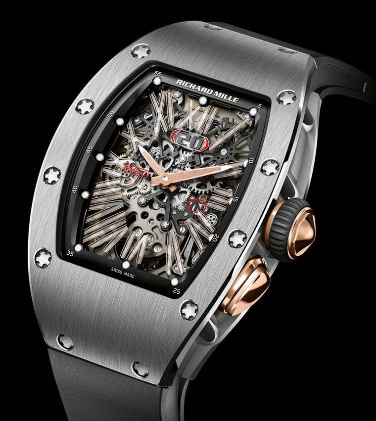 Richard Mille RM 037 with in-house caliber CRMA1 Available in titanium, red gold and white gold POA
