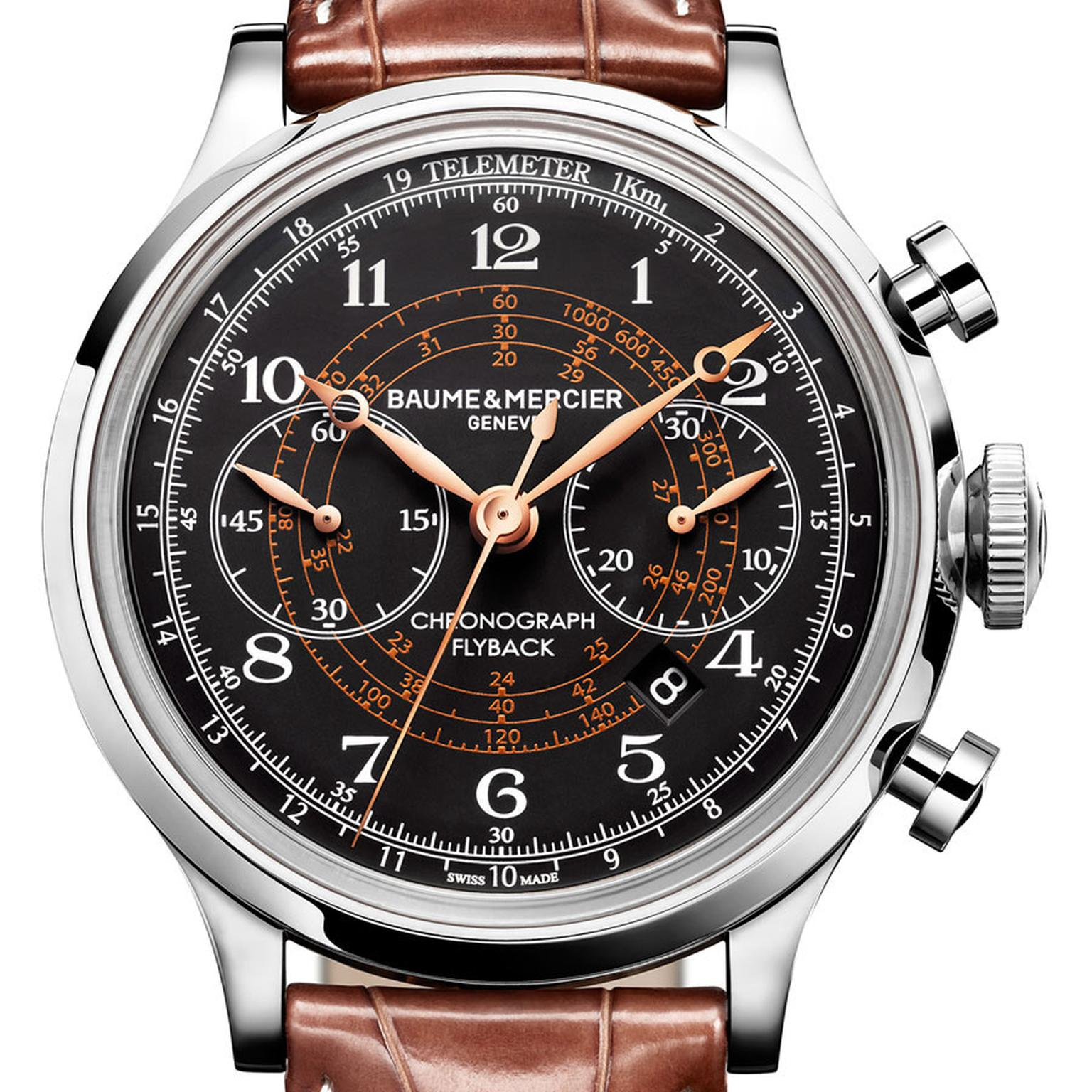 Baume & Mercier Capeland 10068 Polished/satin-finished steel black and anthracite dial POA