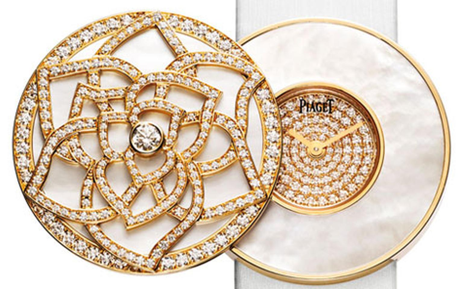 Piaget.-Limelight-Garden-Party-Secret-Watch.-Pink-gold,-white-mother-of-pearl-and-diamonds.-POA-HP