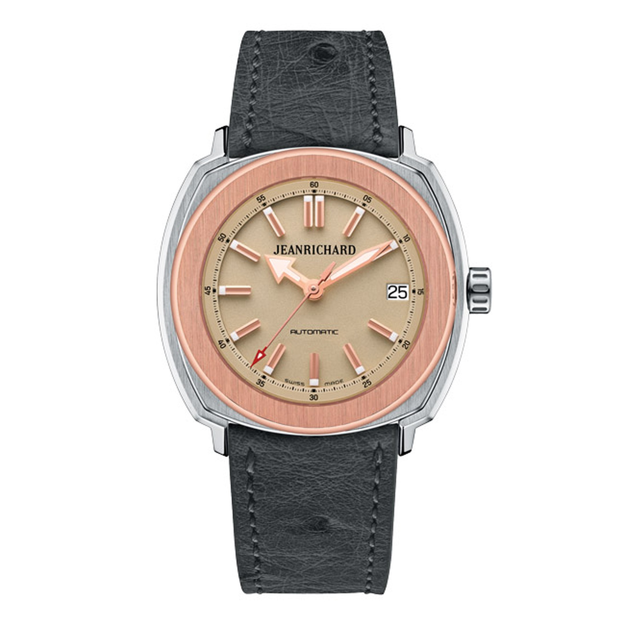 JeanRichard Terrascope watch with a bronze dial designed specifically for women.
