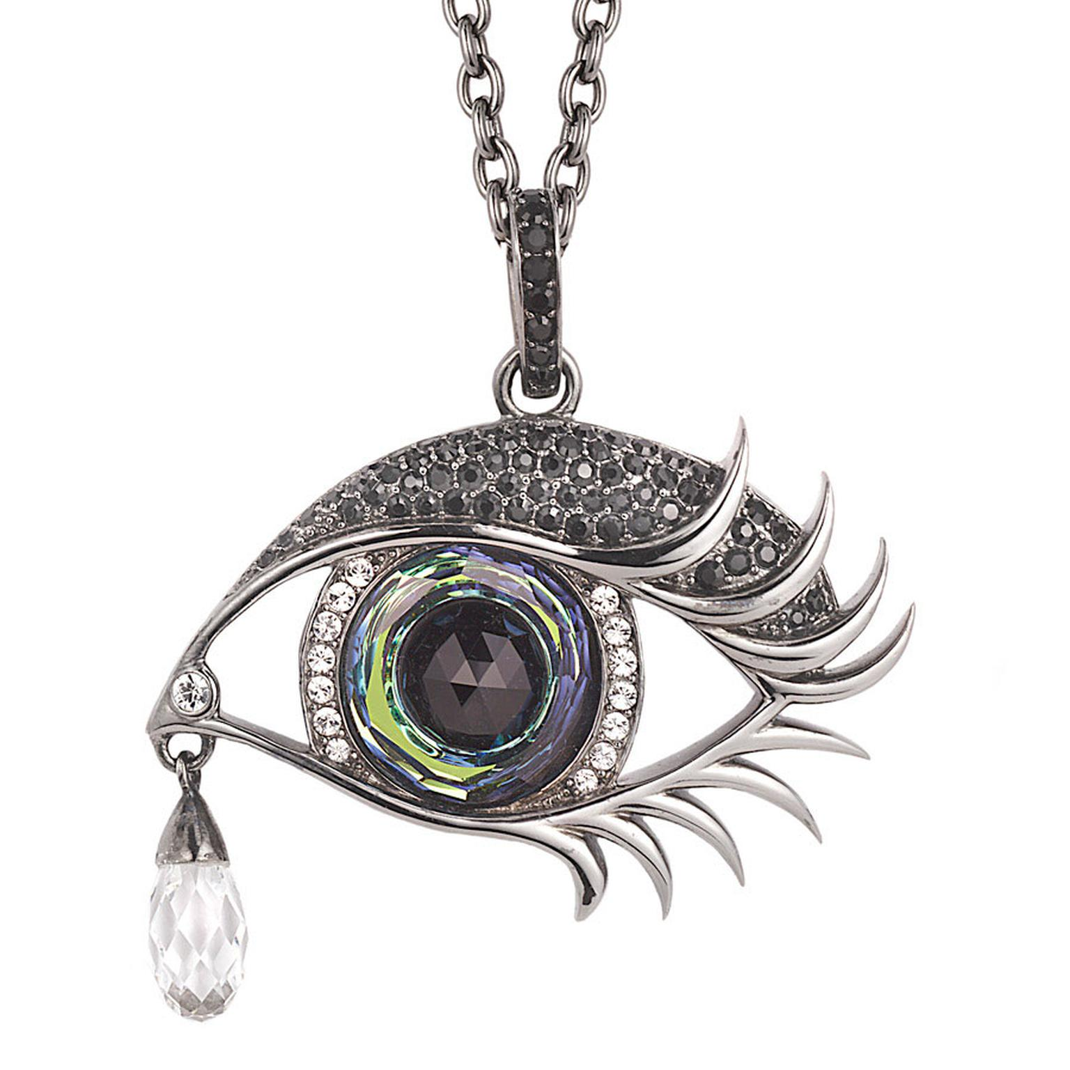 Stephen Webster Seven Deadly Sins Envy Pendant set in sterling silver with pave crystals 650.