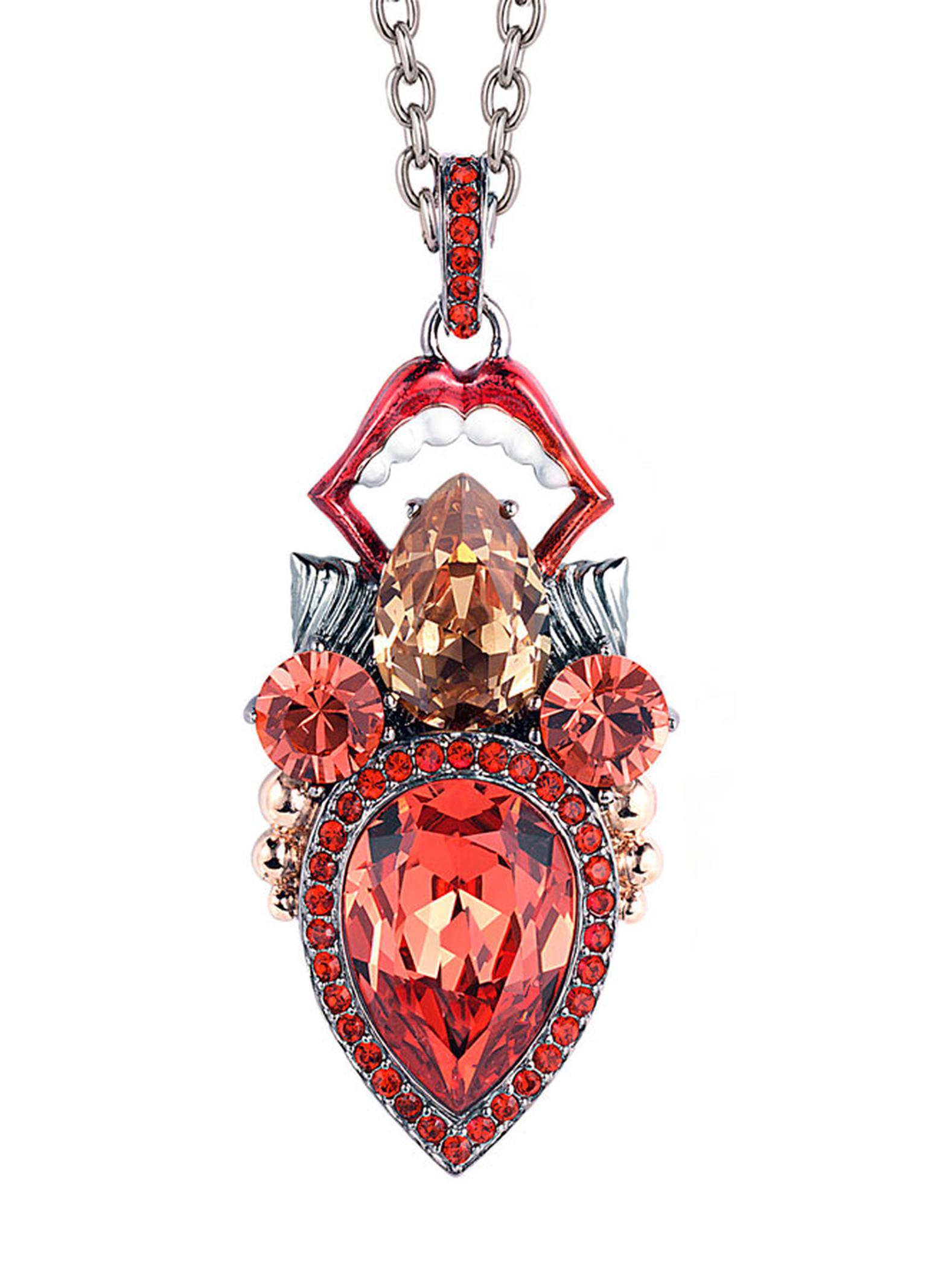 Stephen Webster Seven Deadly Sins Gluttony Pendant set in sterling silver with pave crystals 650