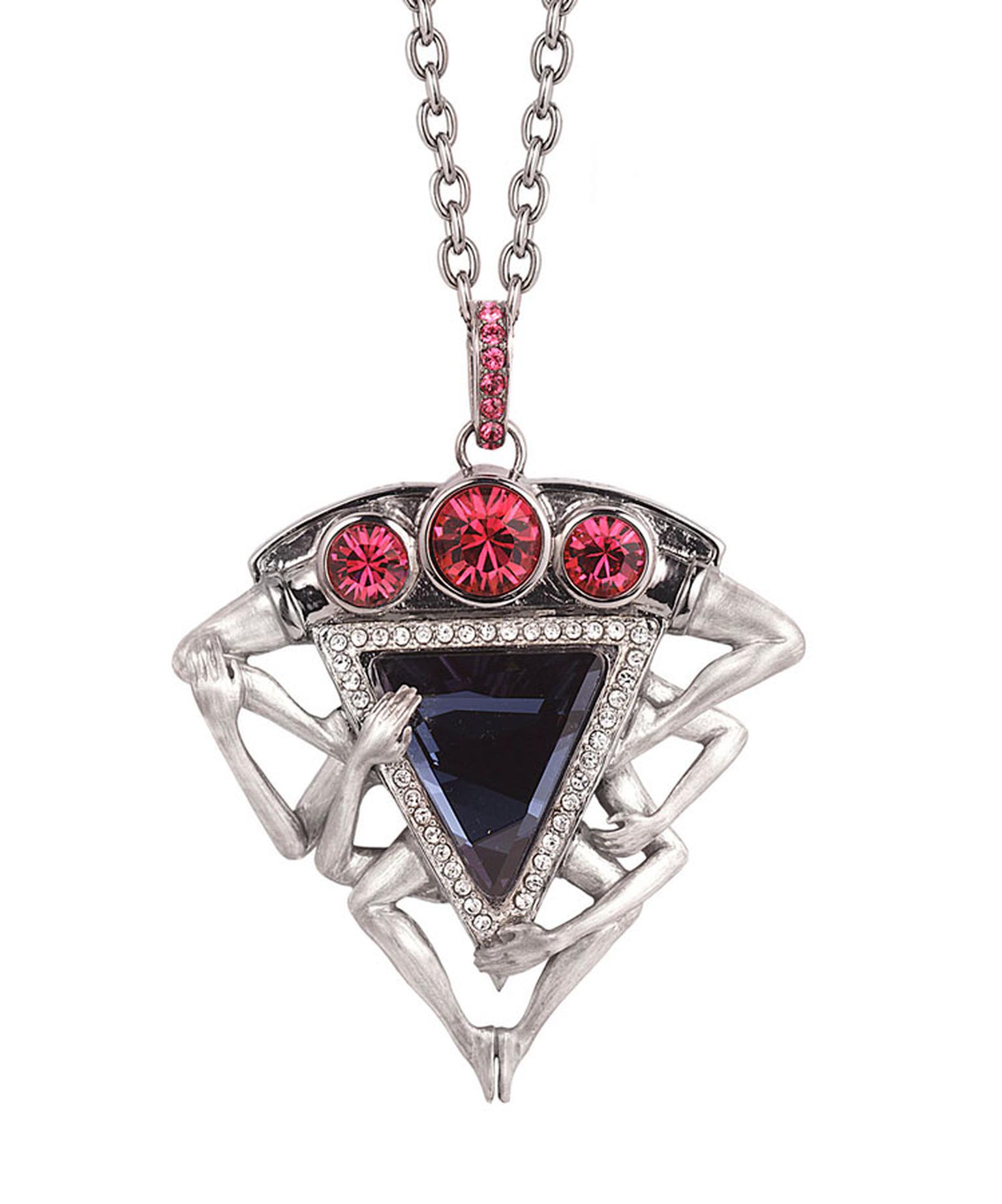 Stephen Webster Seven Deadly Sins Lust Pendant set in sterling silver with pave crystals 650