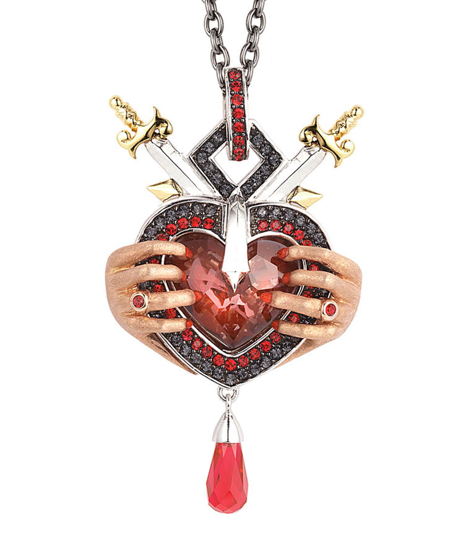 Stephen Webster Seven Deadly Sins Wrath Pendant set in sterling silver with pave crystals Price from 650