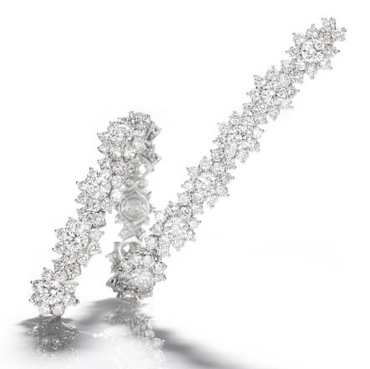 Harry Winston diamond and platinum Sunflower bracelet