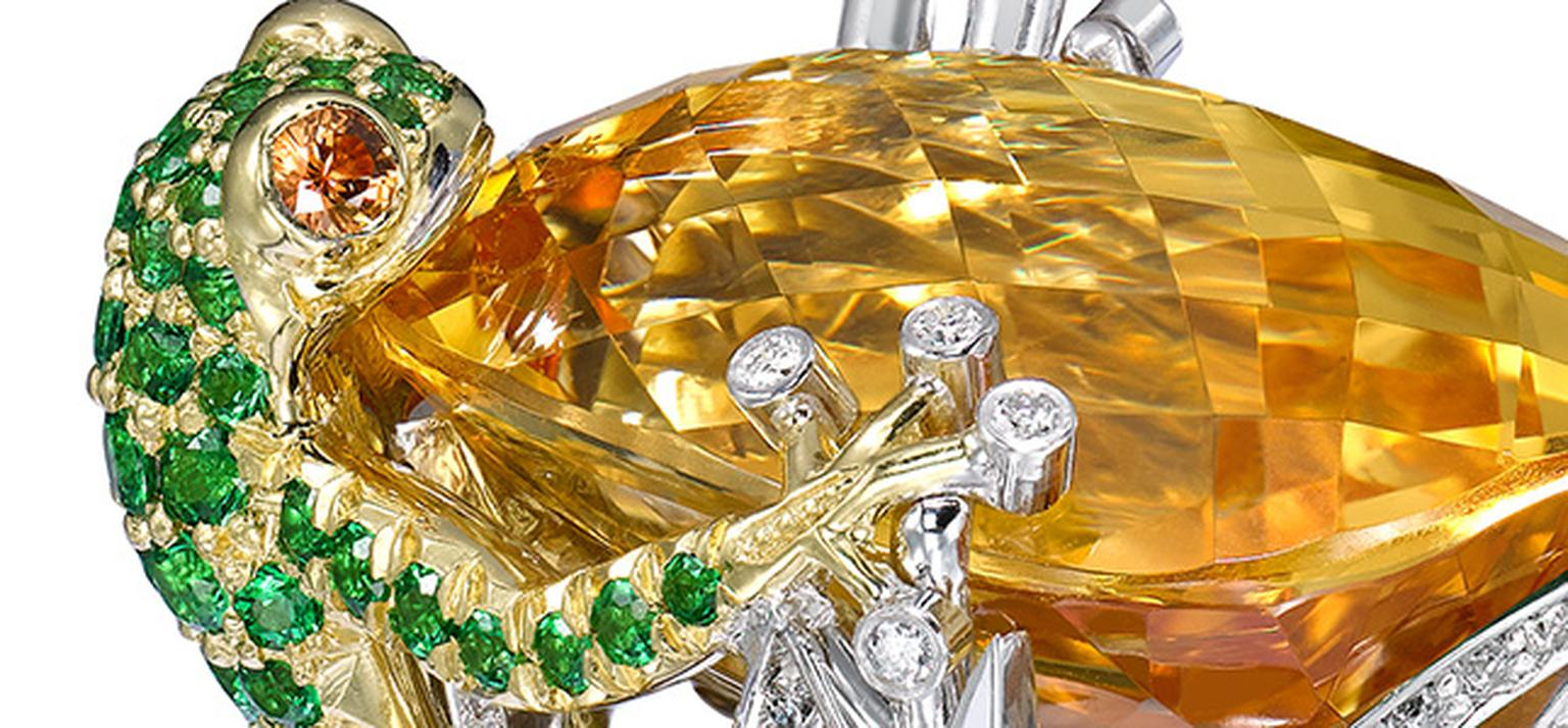 Boodles Citrine Frog ring HP