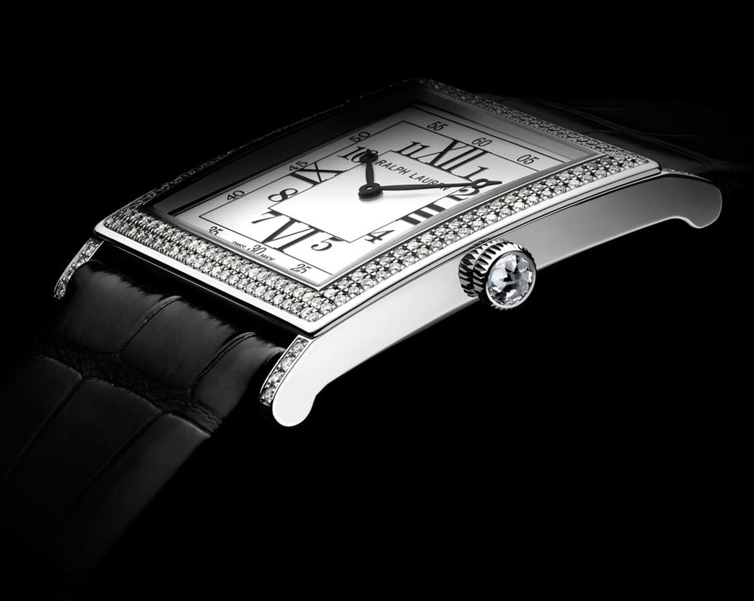 Ralph Lauren. Slim Classique Collection. 867 Watch, two rows of diamonds. MAINPIC