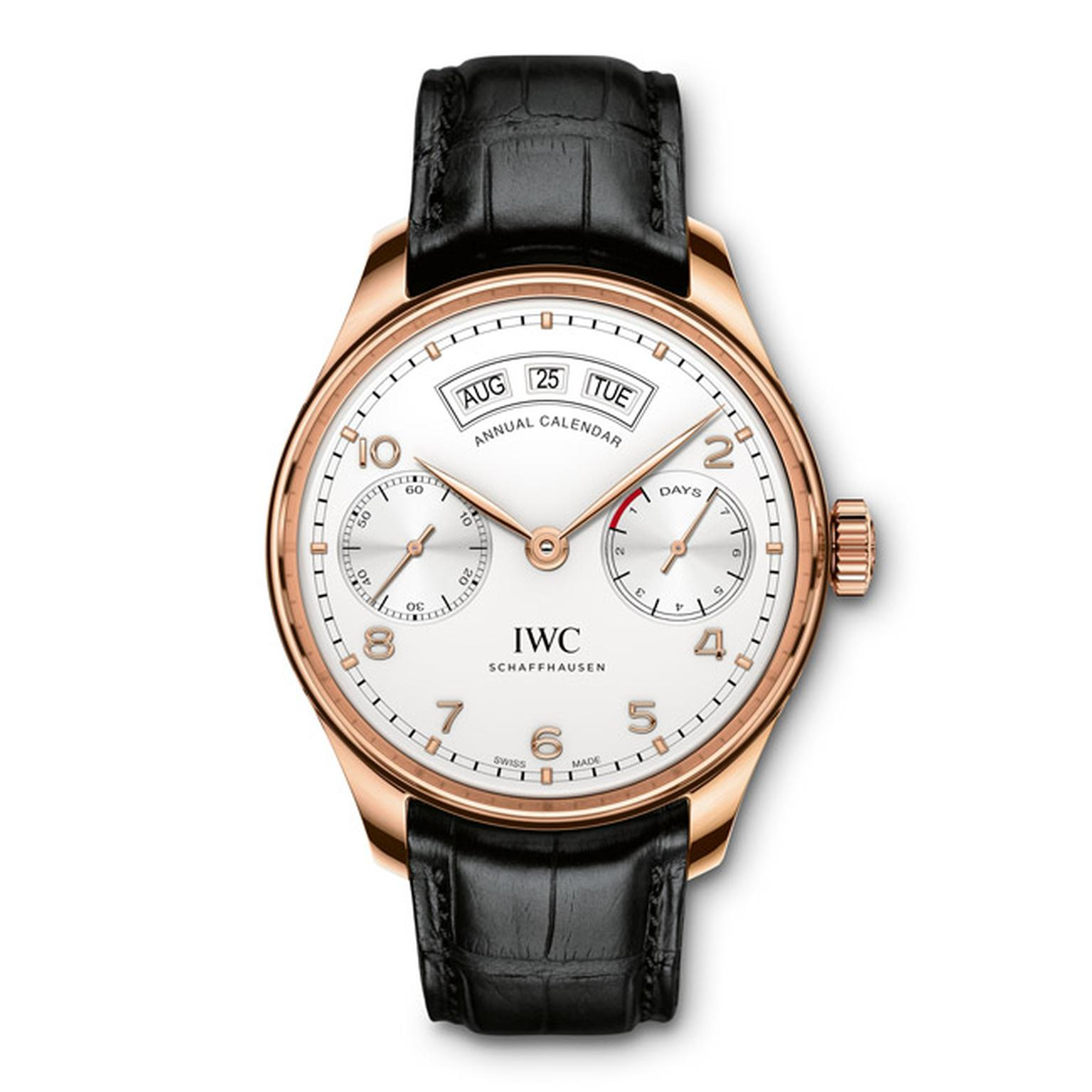 IWC Annual Calendar Rose Gold Main