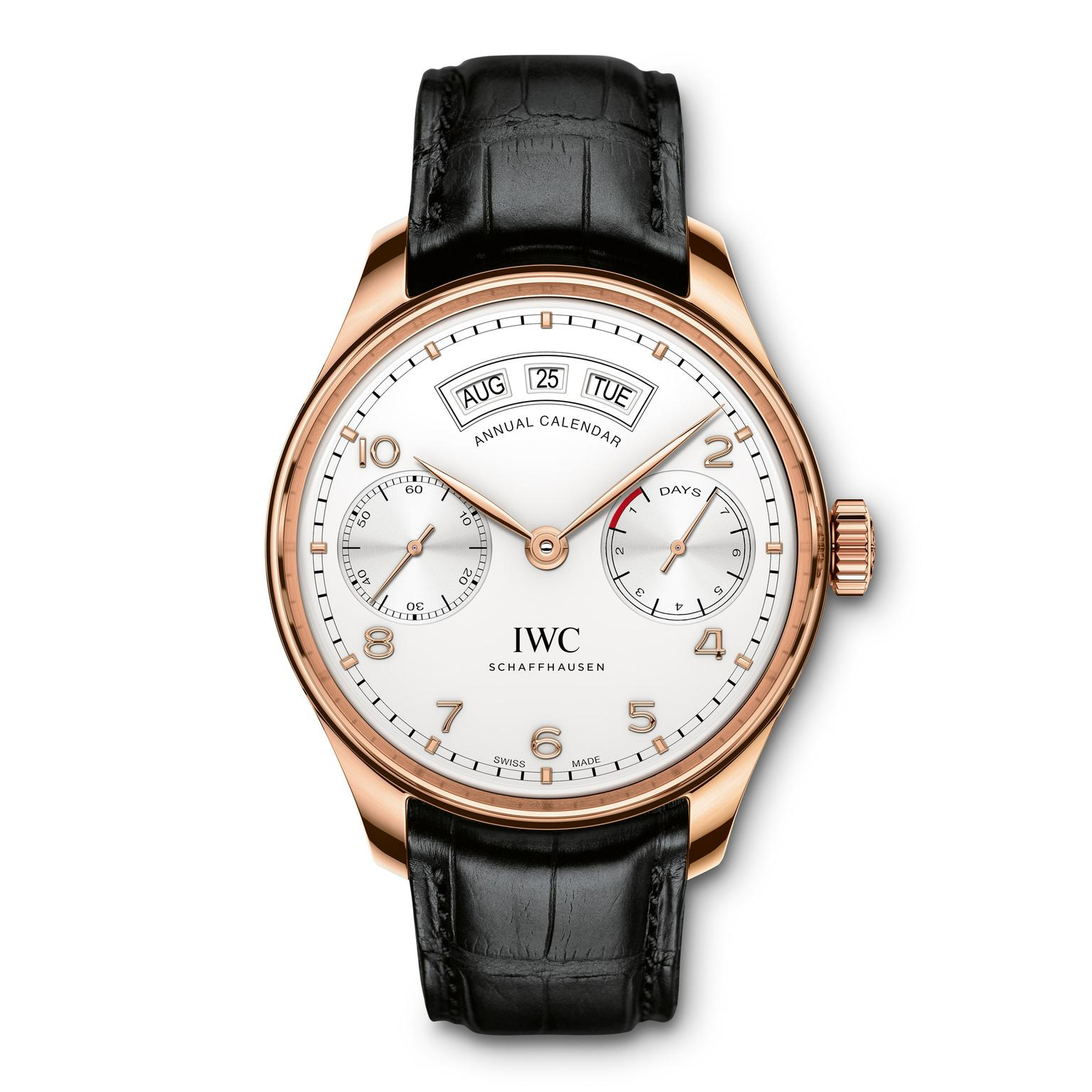 IWC Annual Calendar Rose Gold Zoom