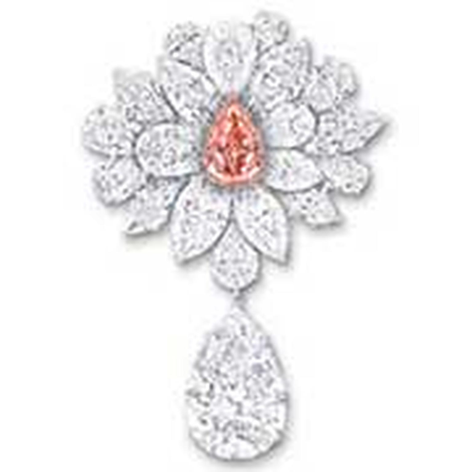 Graff pink diamond brooch