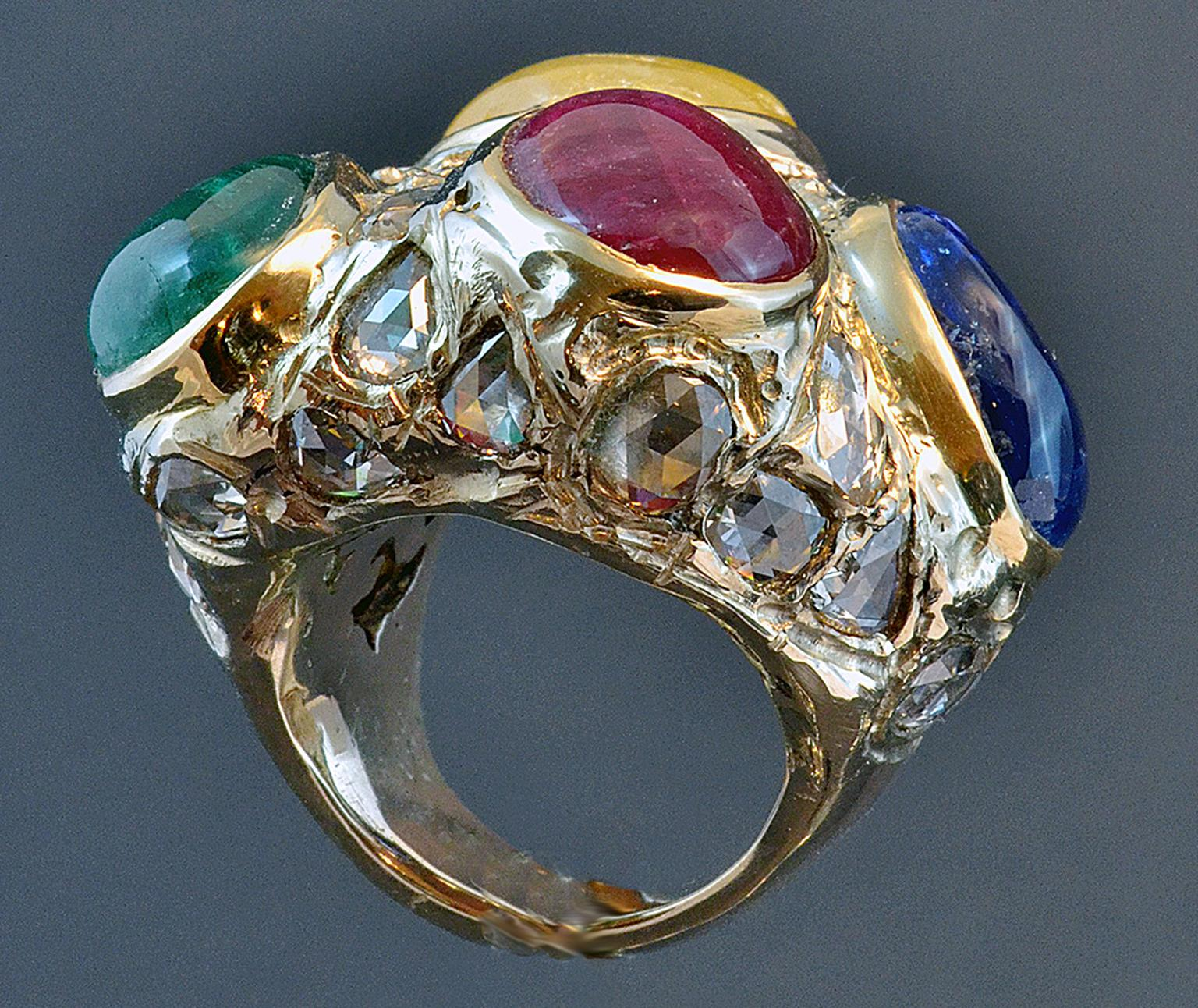 Attilio Codognato coloured stone ring