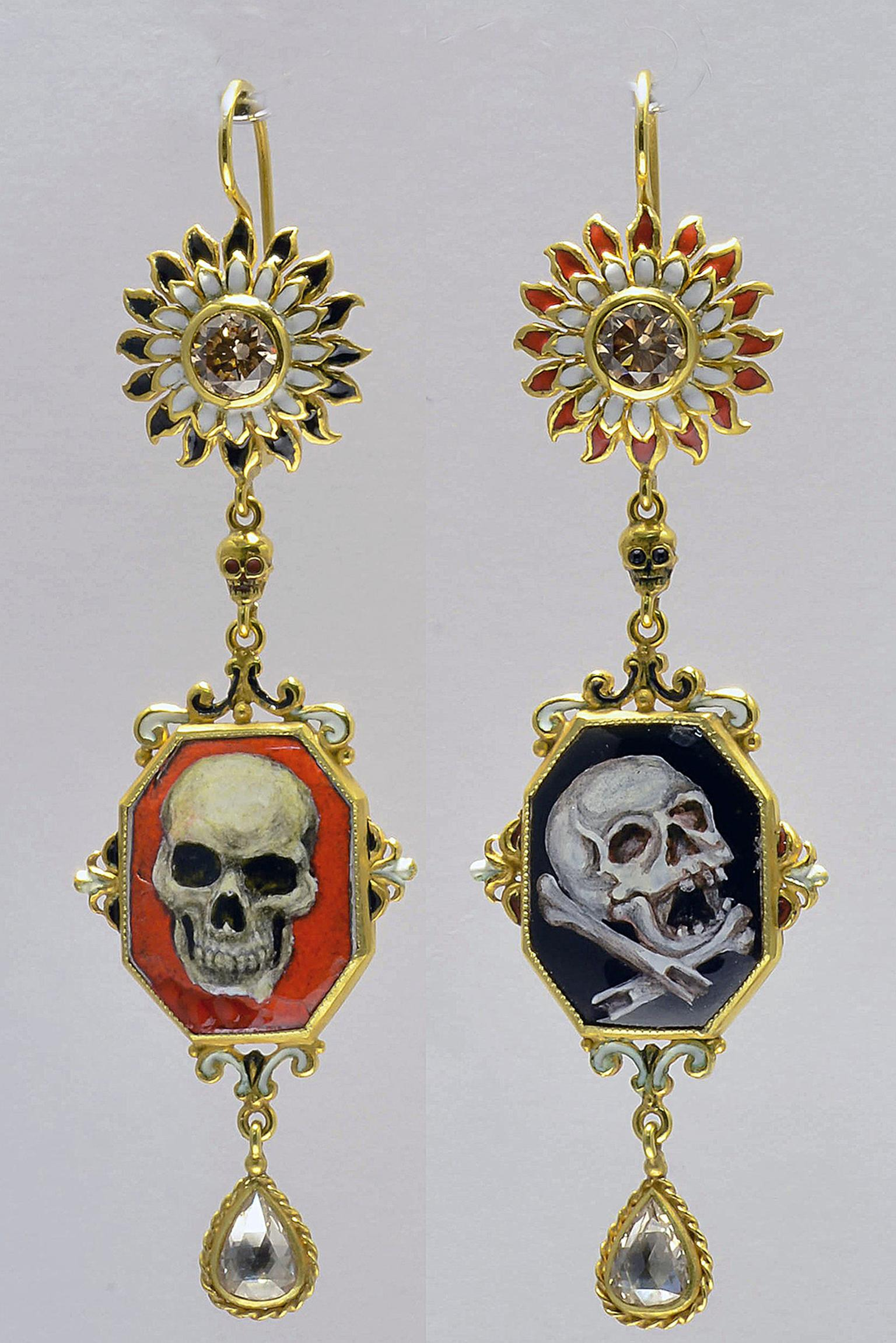 Attilio Codognato skull earrings