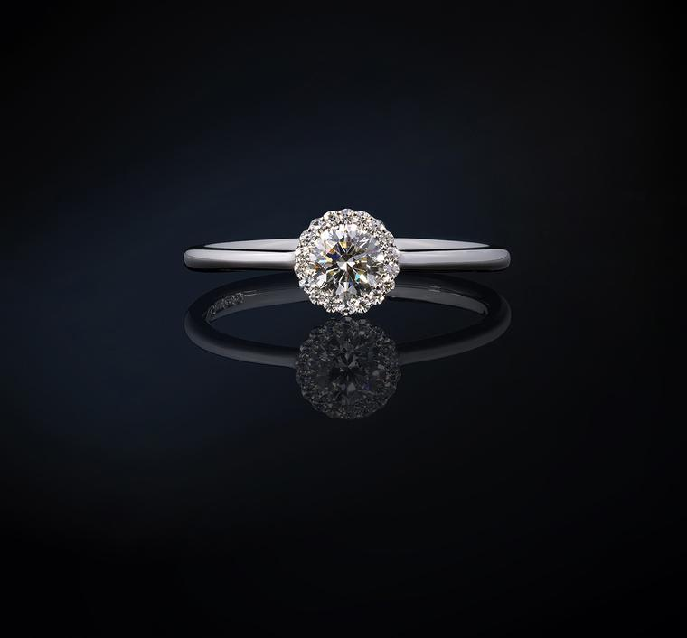 Andrew Geoghegan Cannelé diamond engagement ring