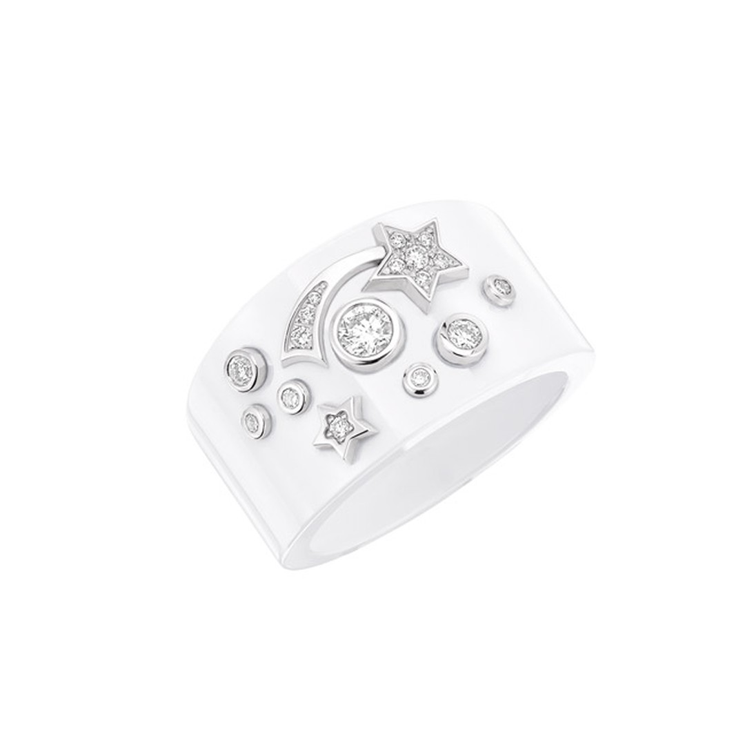 Chanel Comet Ring White Large Main