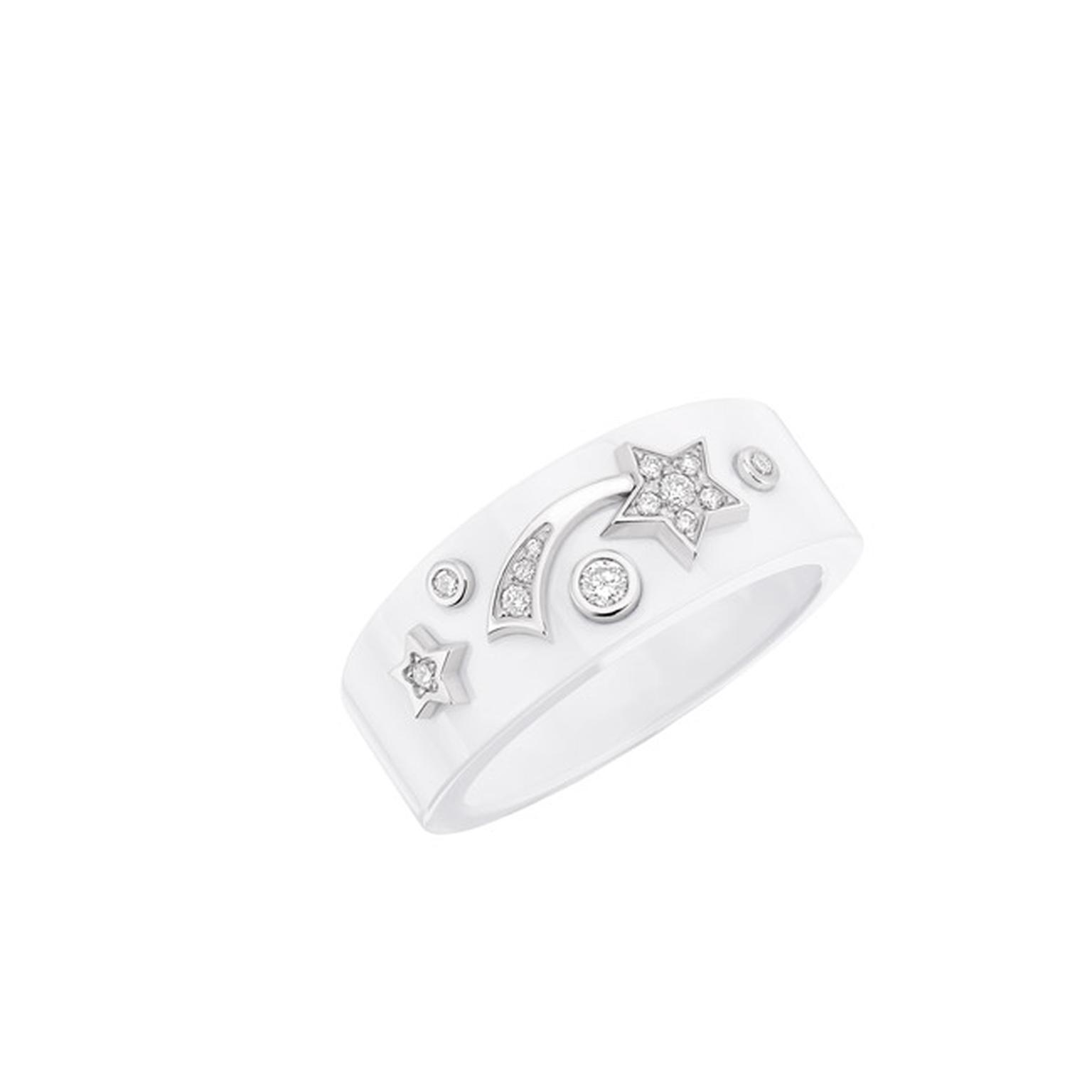 Chanel Comet Ring White Small Main