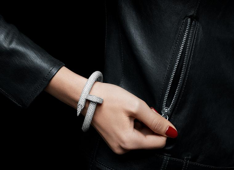 Cartier's new diamond paved Juste Un Clou bracelet