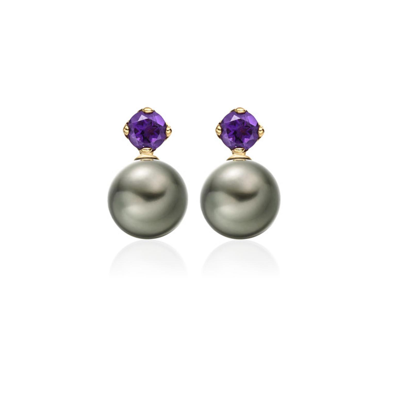 Winterson Amethyst Pearl Earrings Main