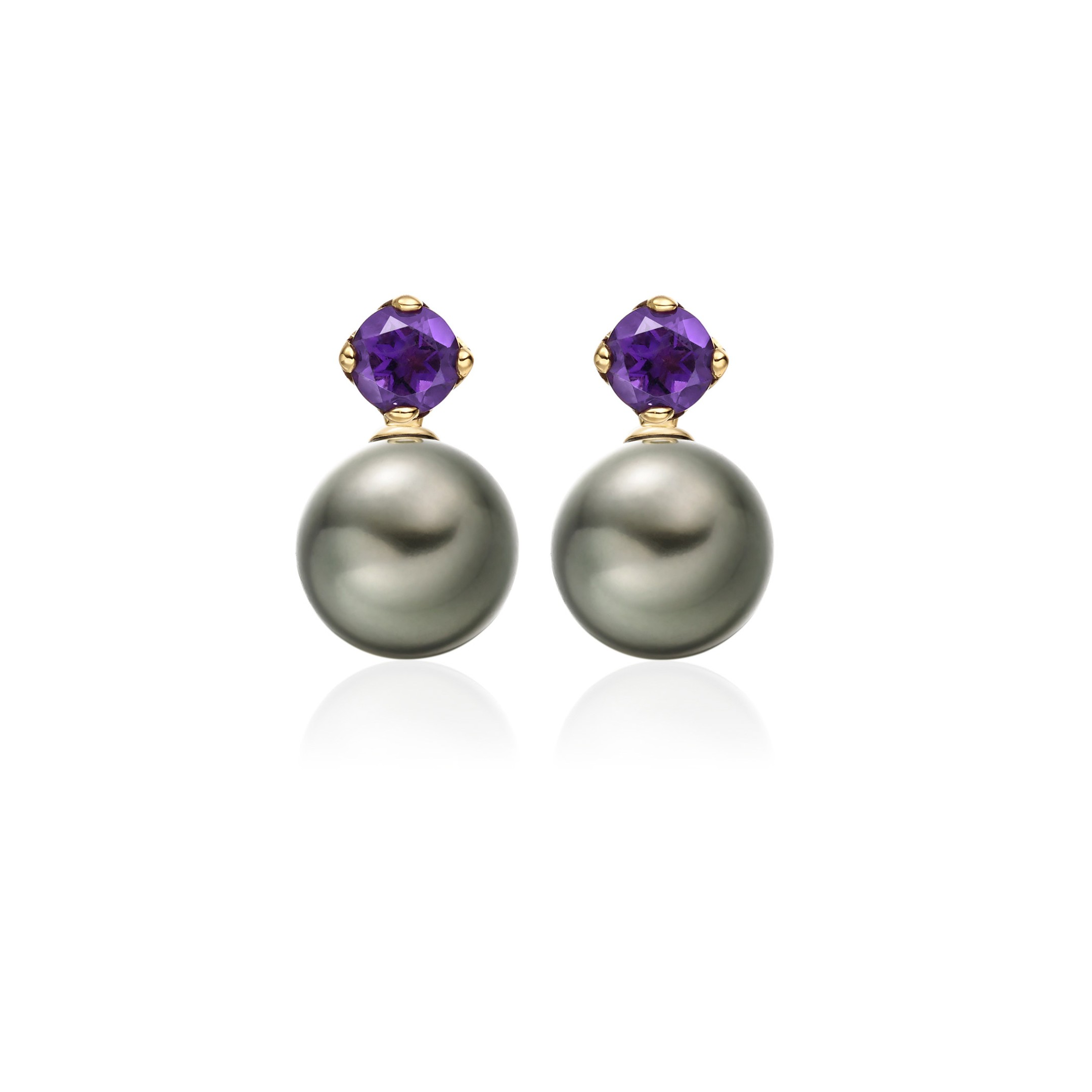 Winterson Amethyst Pearl Earrings Zoom