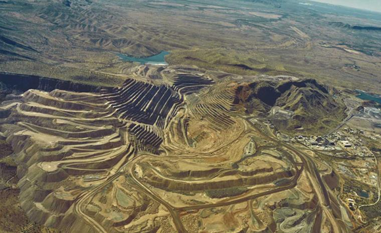 Aerial shots of the Argyle Diamond mine in the East Kimberley region of Western Australia
