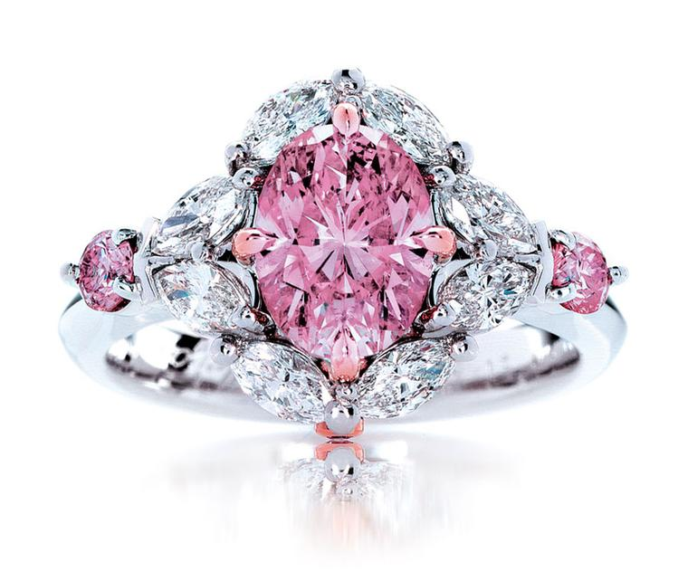 Calleija. My Fair Lady Rare. 1.55ct Fancy Intense Pink Natural Australian Argyle Pink Diamond Ring. POA