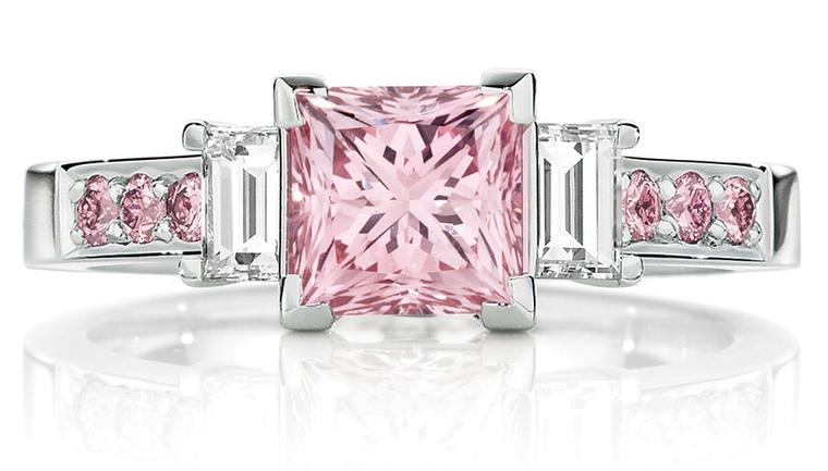 Calleija The Pink Princess engagement ring in platinum, set with 1.52ct natural Australian Argyle Pink diamonds (POA)