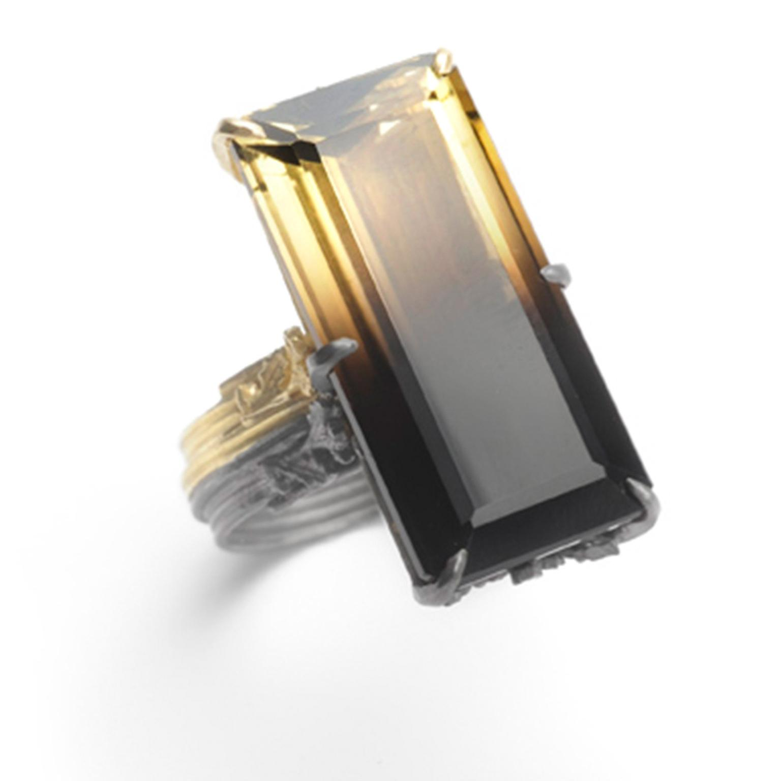Beth Gilmour Citrine Ring Zoom