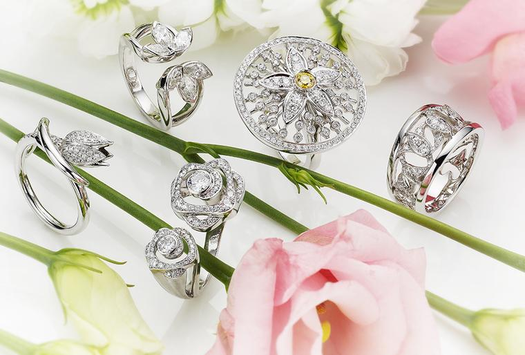 For the new 'Maymay' collection, Boodles has transformed five pretty flowers into precious jewels