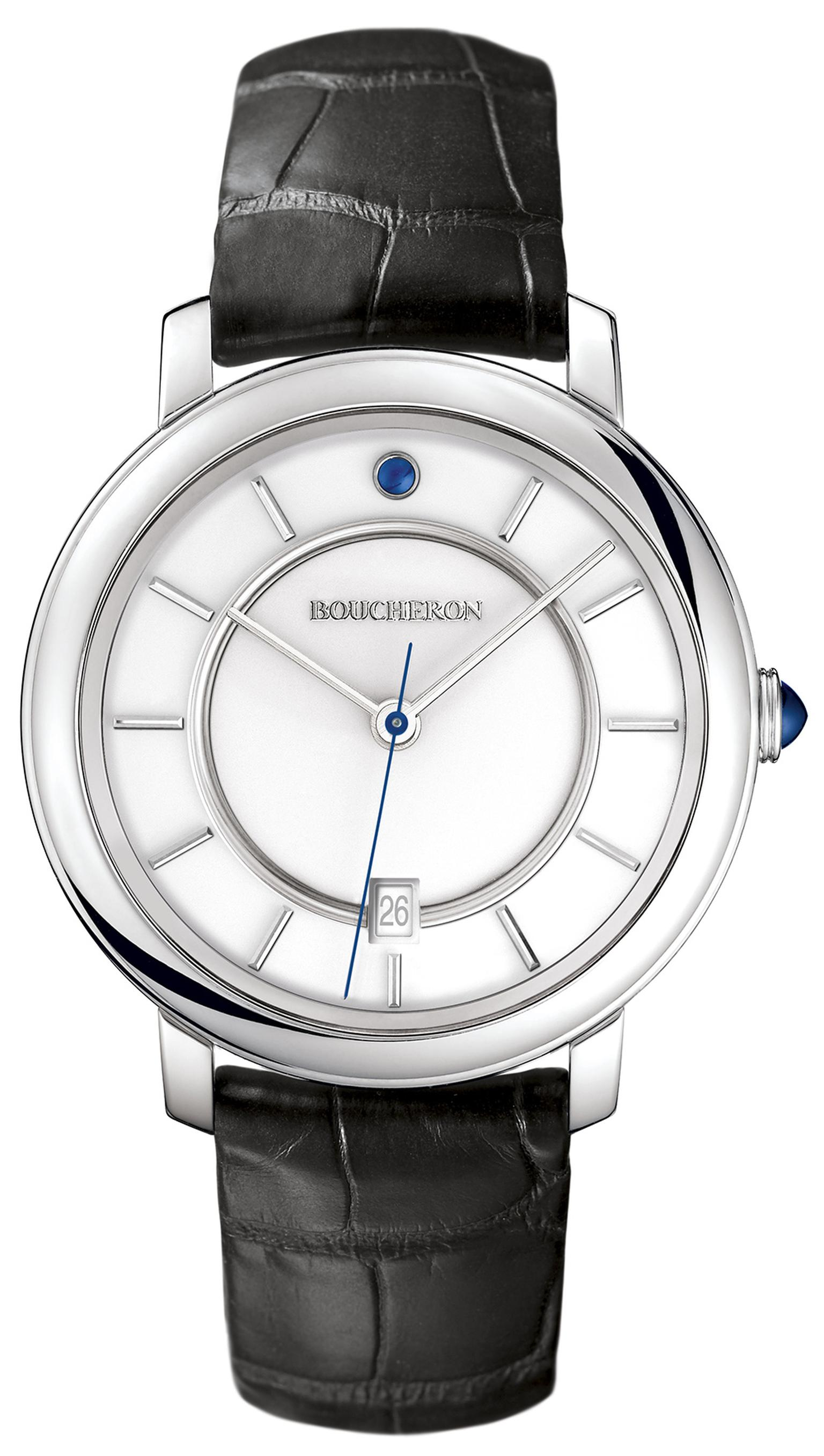 BoucheronEpureWatchWhiteGoldWhiteDial42mm