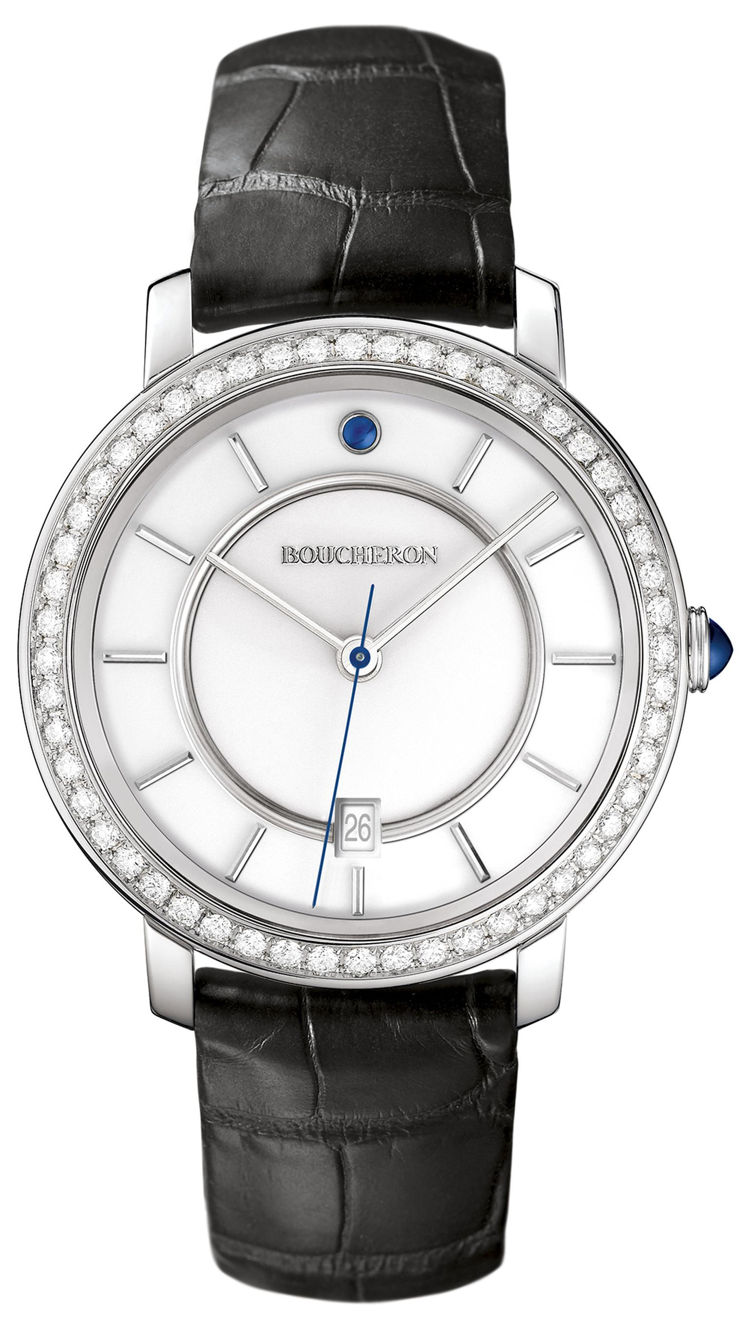 BoucheronEpureWatchWhiteGoldWhiteDialDiamonds42mm