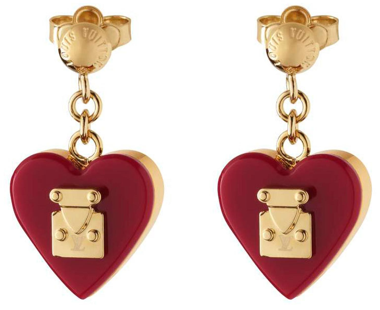 Valentines - Vuitton Lock Me earrings. priced at £270