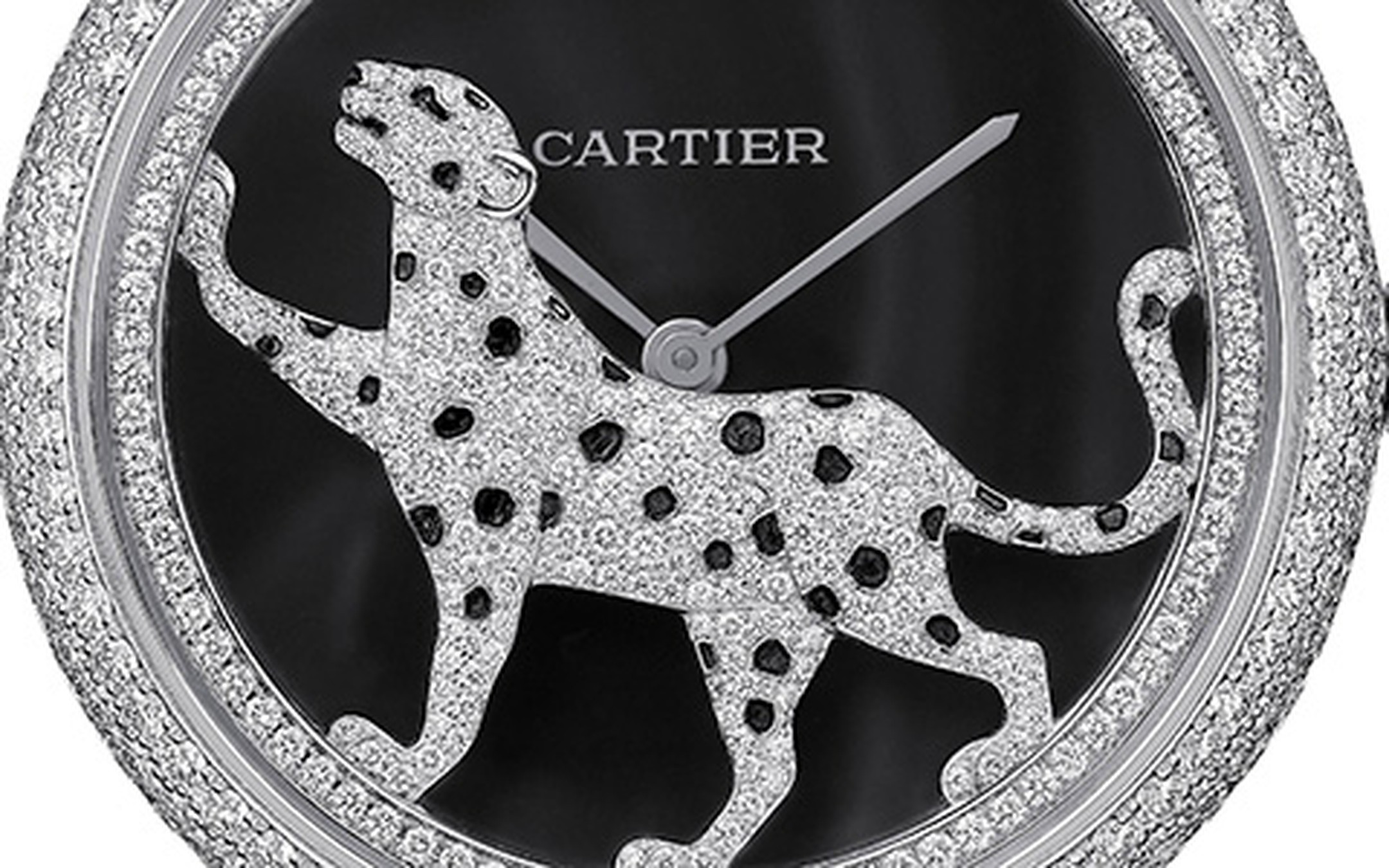SIHH 2012 Cartier Panthere high jewellery watch Dial detail