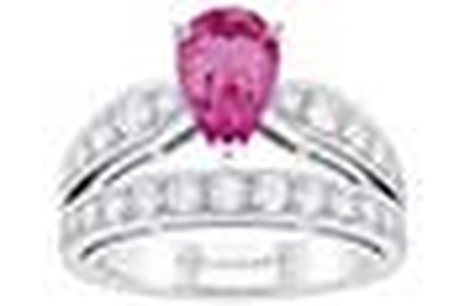 Pink Sapphire Engagement Ring NL