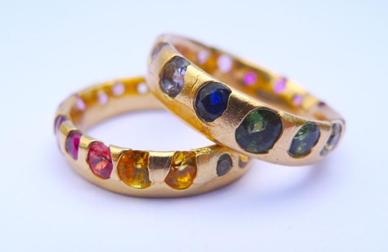 Polly Wales Rainbow sapphire ring