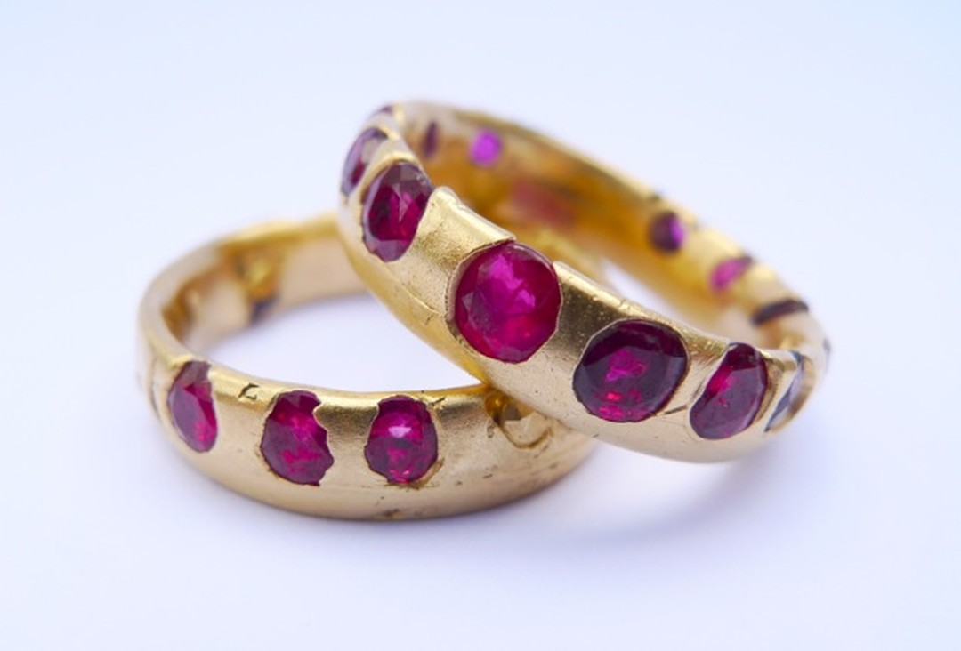 Polly Wales Ruby Crystal rings