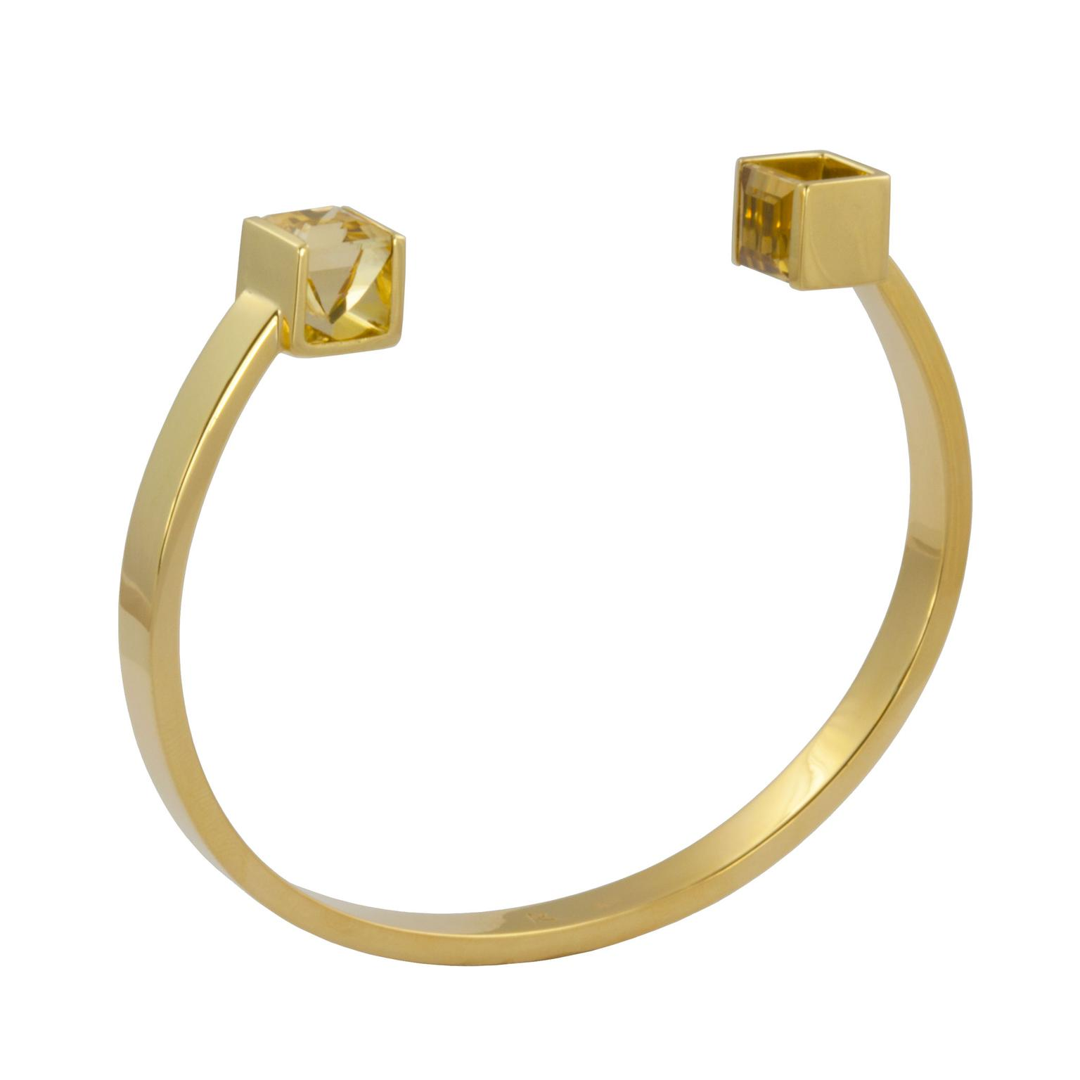 Kattri Quadrant yellow gold and citrine bracelet_zoom