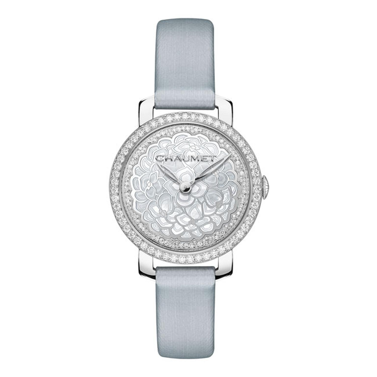 Chaumet Hortensia watch with grey strap_main