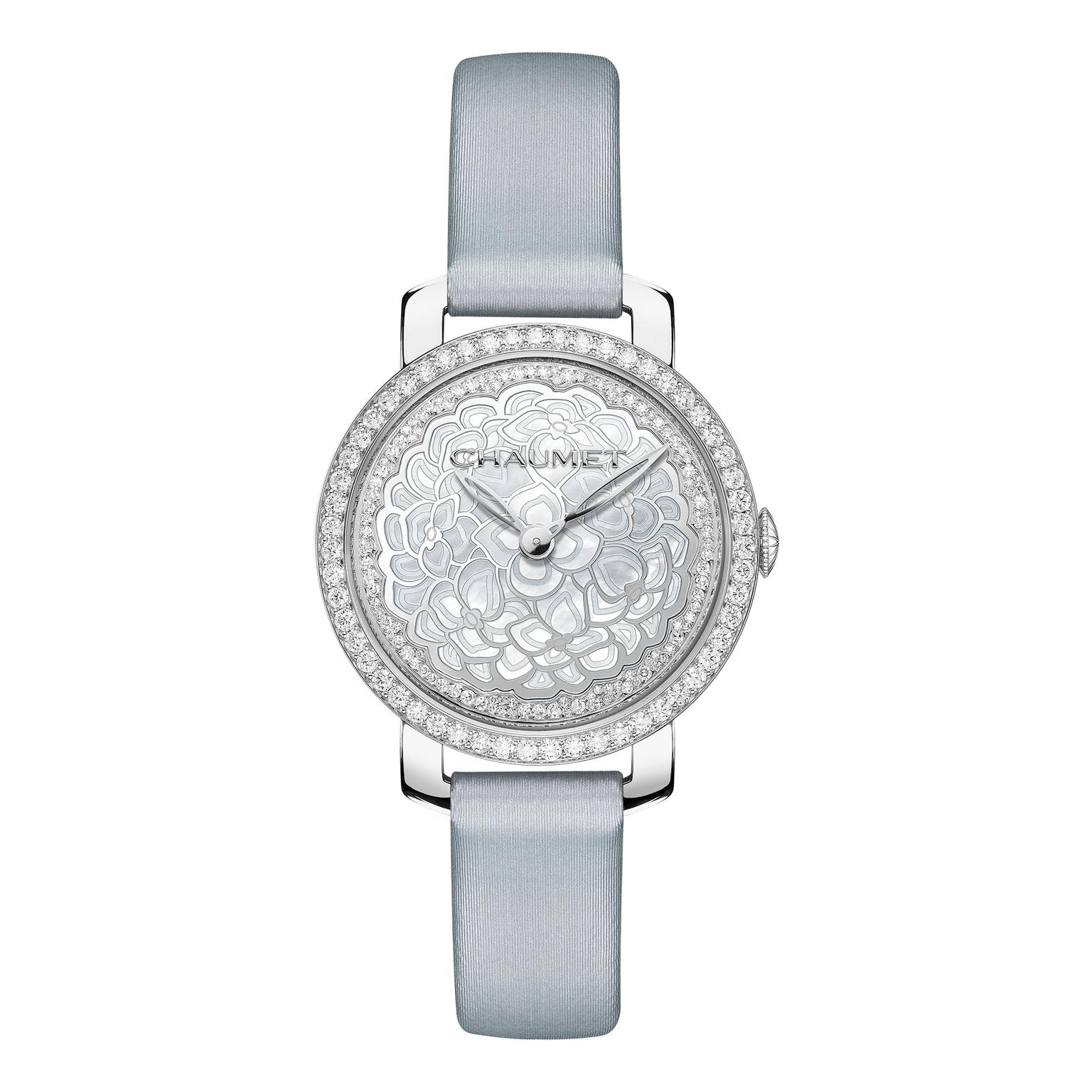 Chaumet Hortensia watch with grey strap_zoom