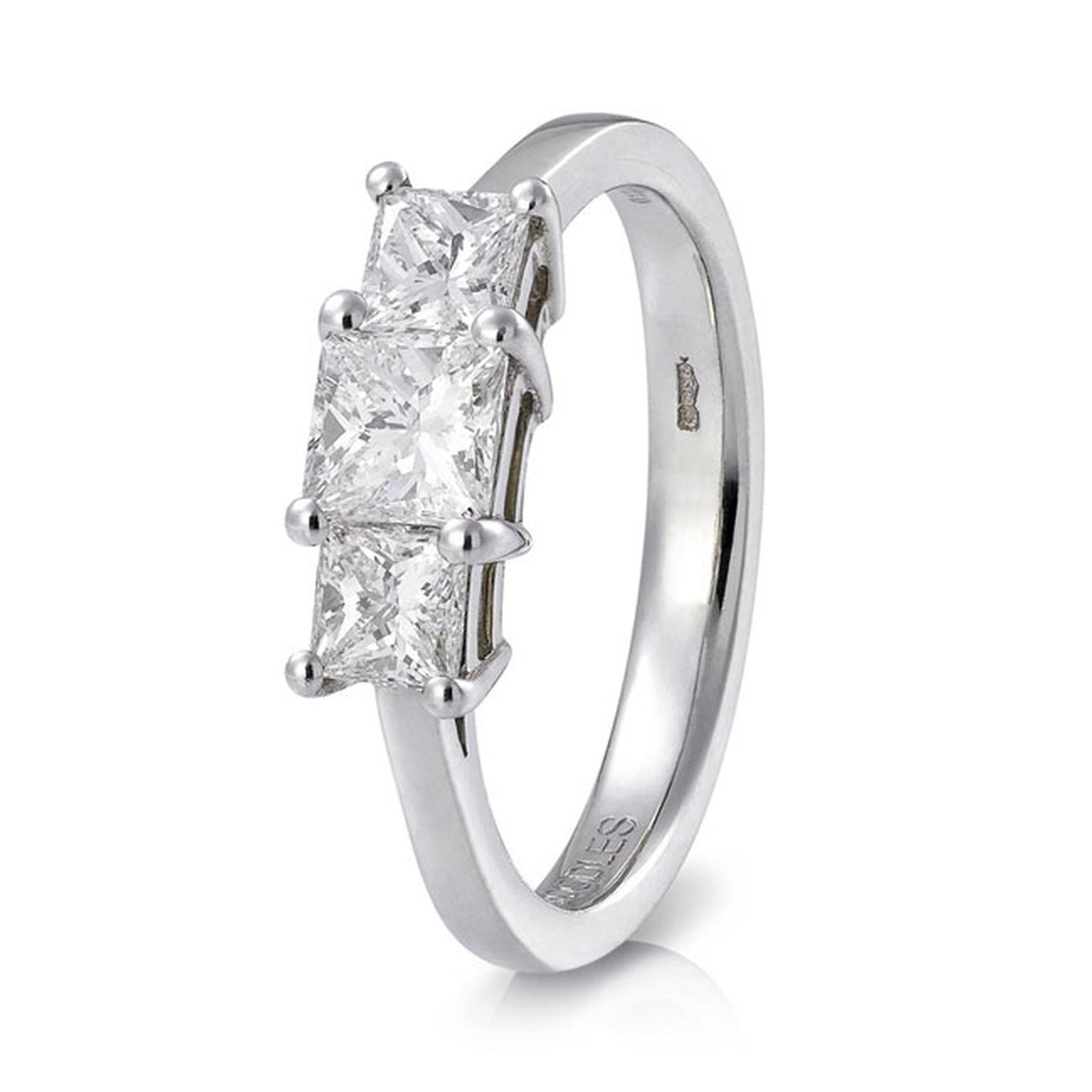 Boodles Triology radiant cut diamond ring_main