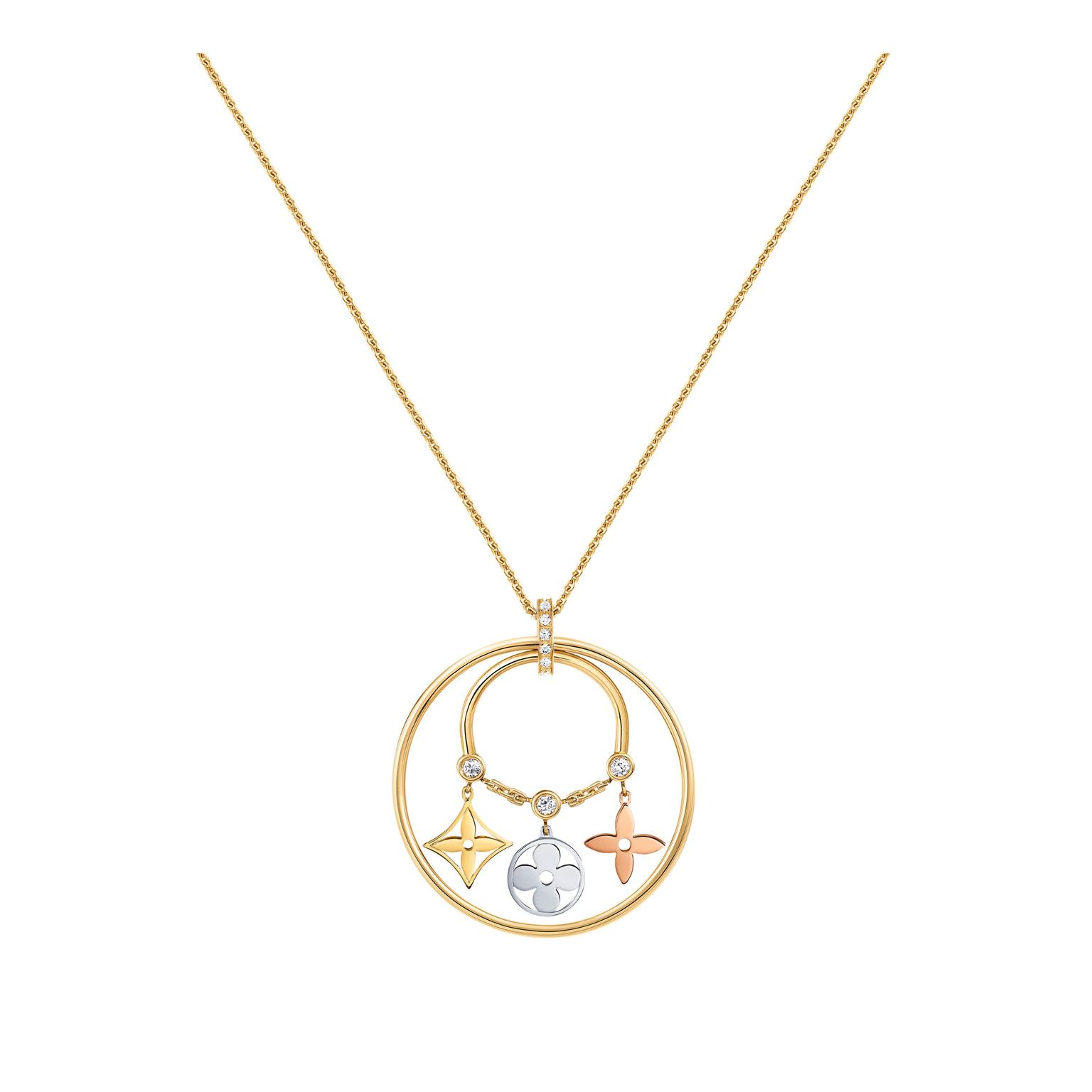 Louis Vuitton gold diamond pendant_zoom