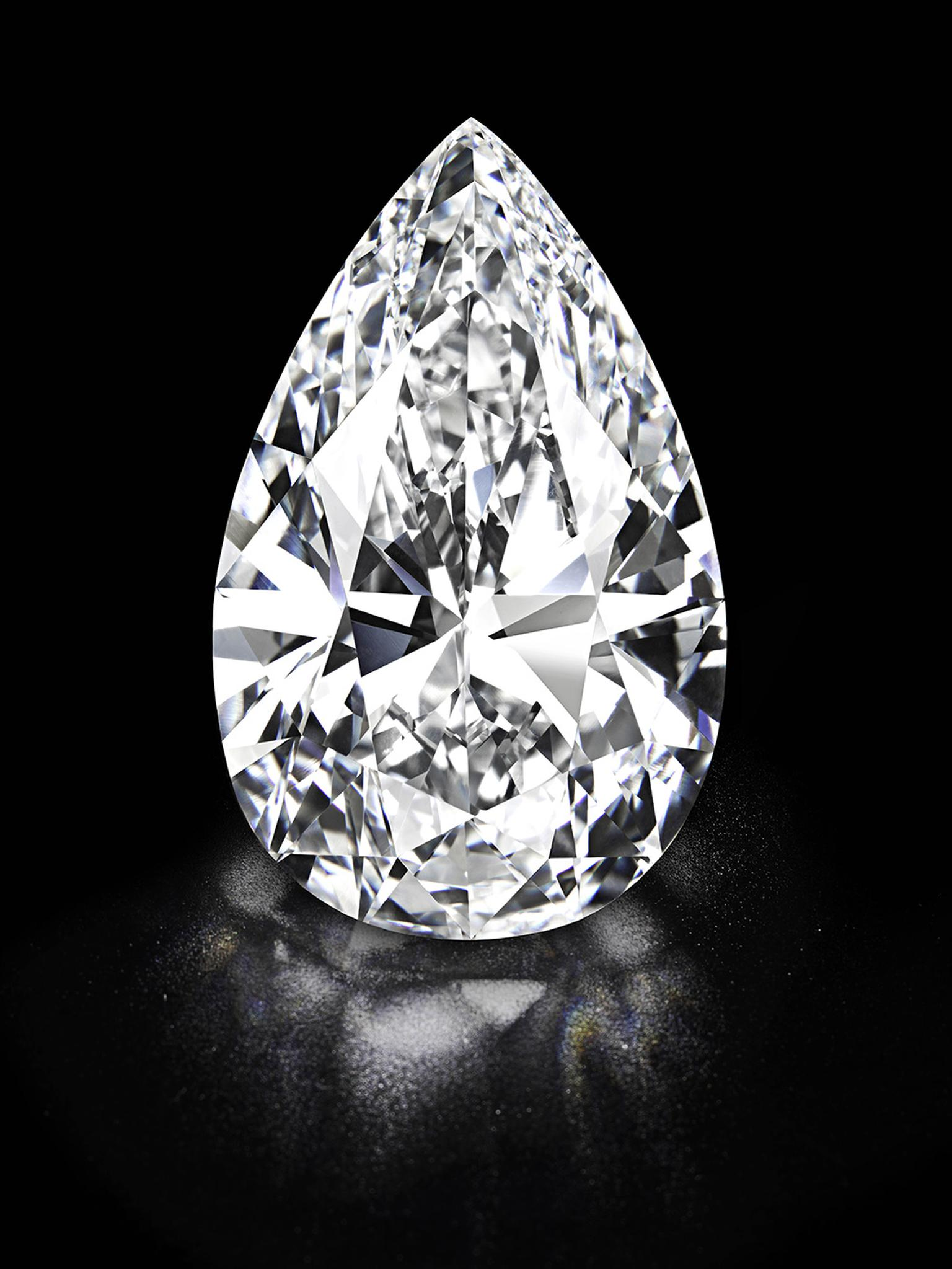 In May 2013, Harry Winston purchased a 101.73ct pear-shaped diamond known as the '101' at Christie's in Geneva for US$26.7 million. It held the world record for the most valuable colourless diamond ever sold at auction until a D colour, flawless, Type IIA