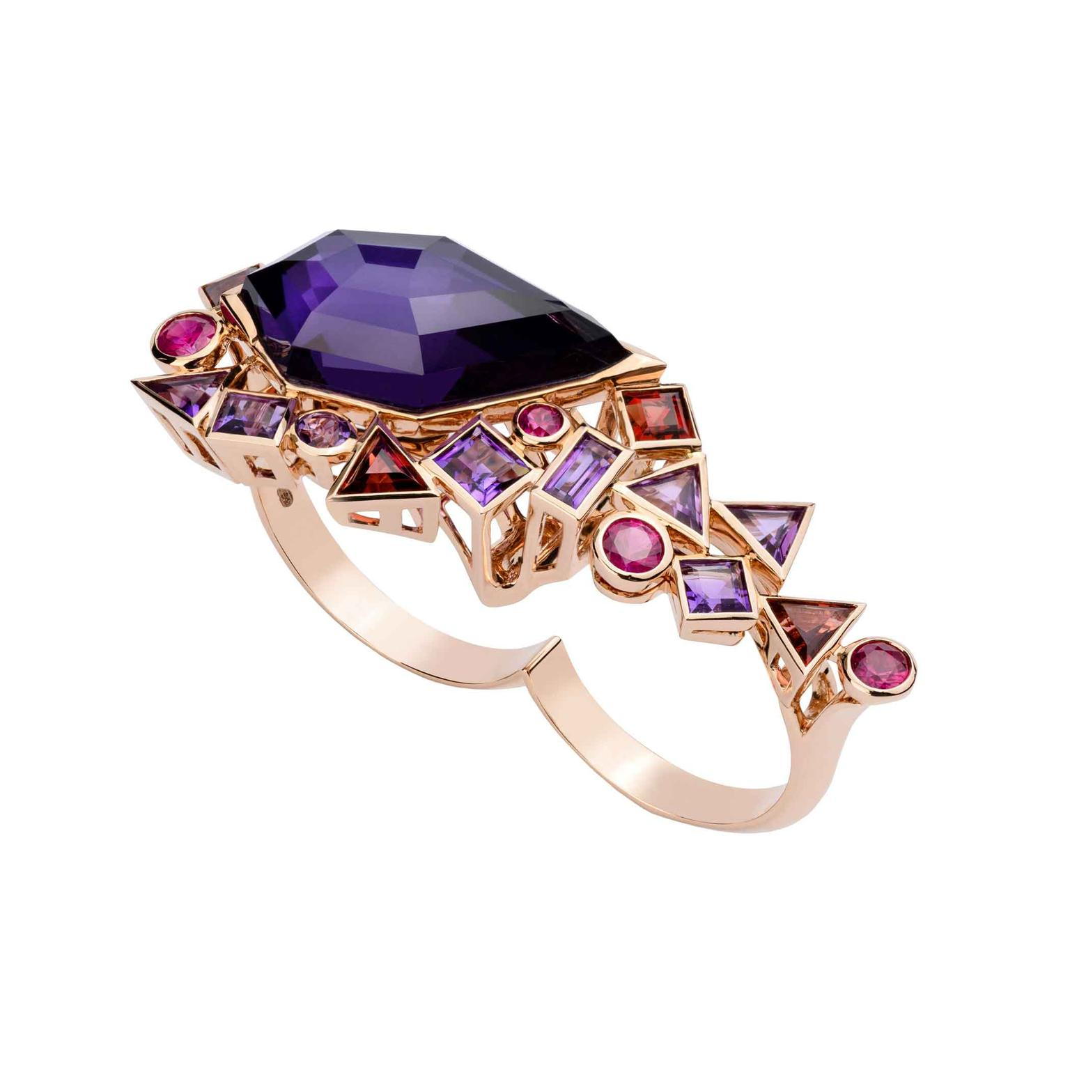 Stephen Webster rose gold ring_zoom