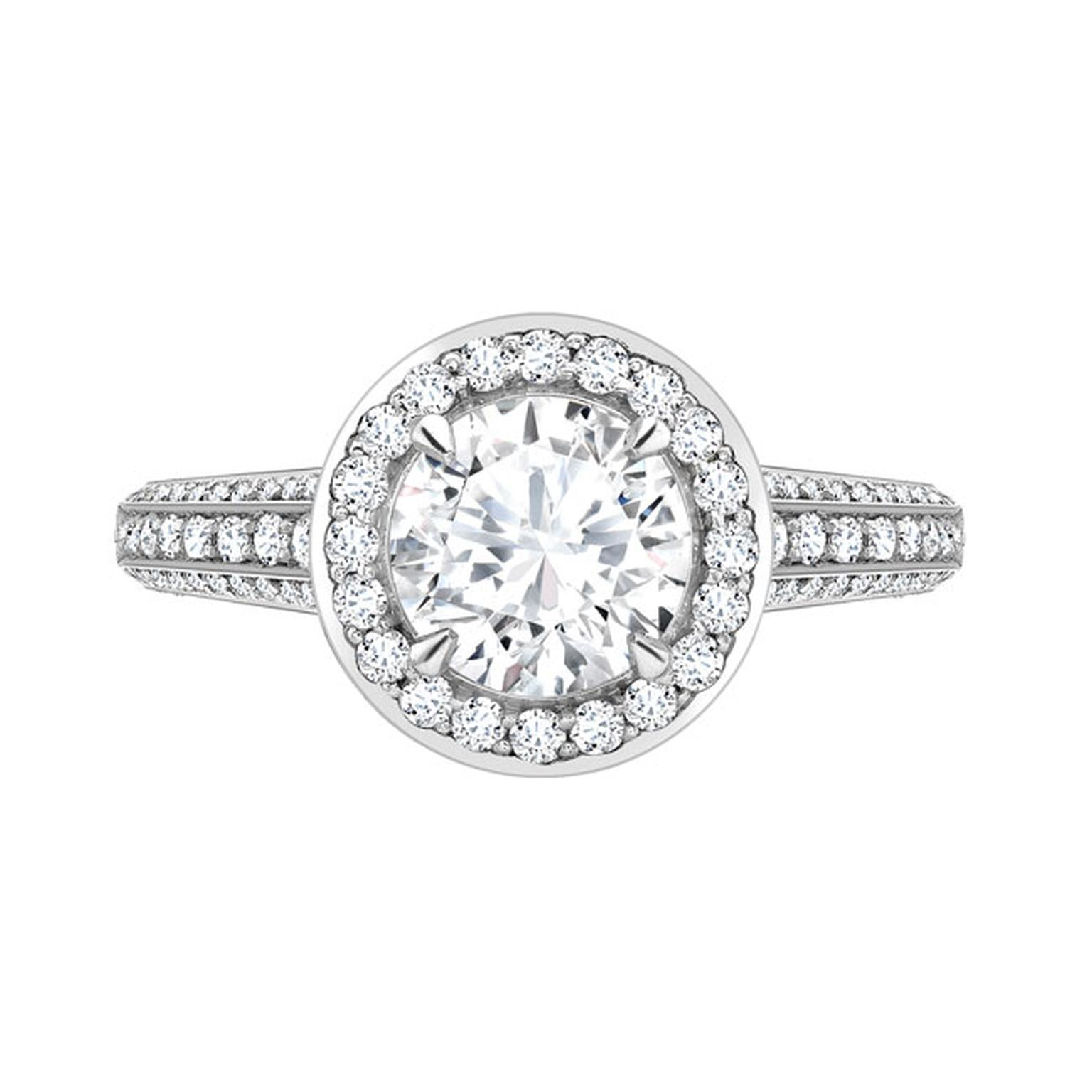 David Marshall Round Brilliant Cut Diamond Ring_main
