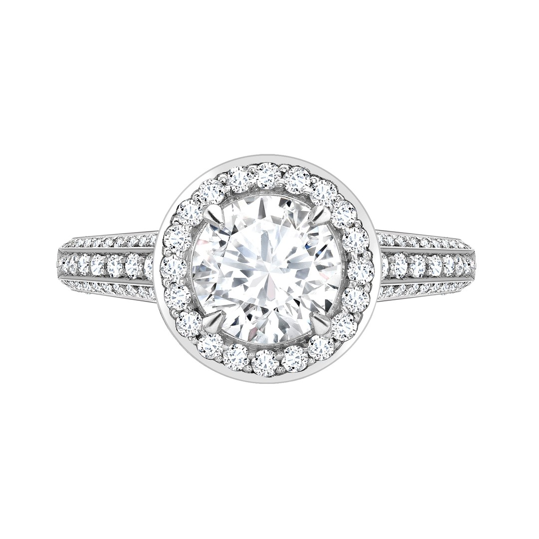 David Marshall Round Brilliant Cut Diamond Ring_zoom