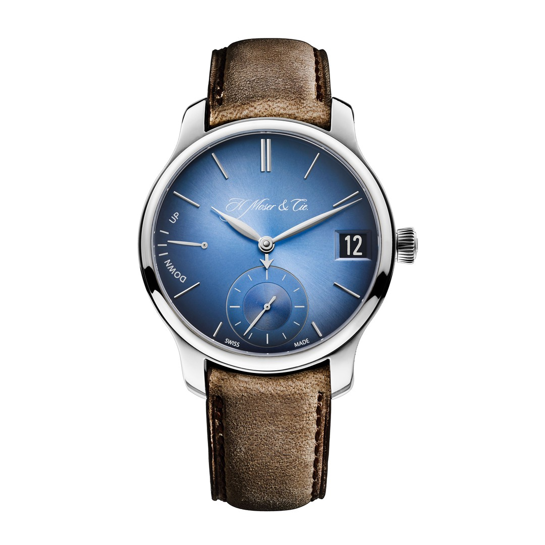 H Moser and Cie Endeavour Perpetual Calendar Funky Blue watch_zoom