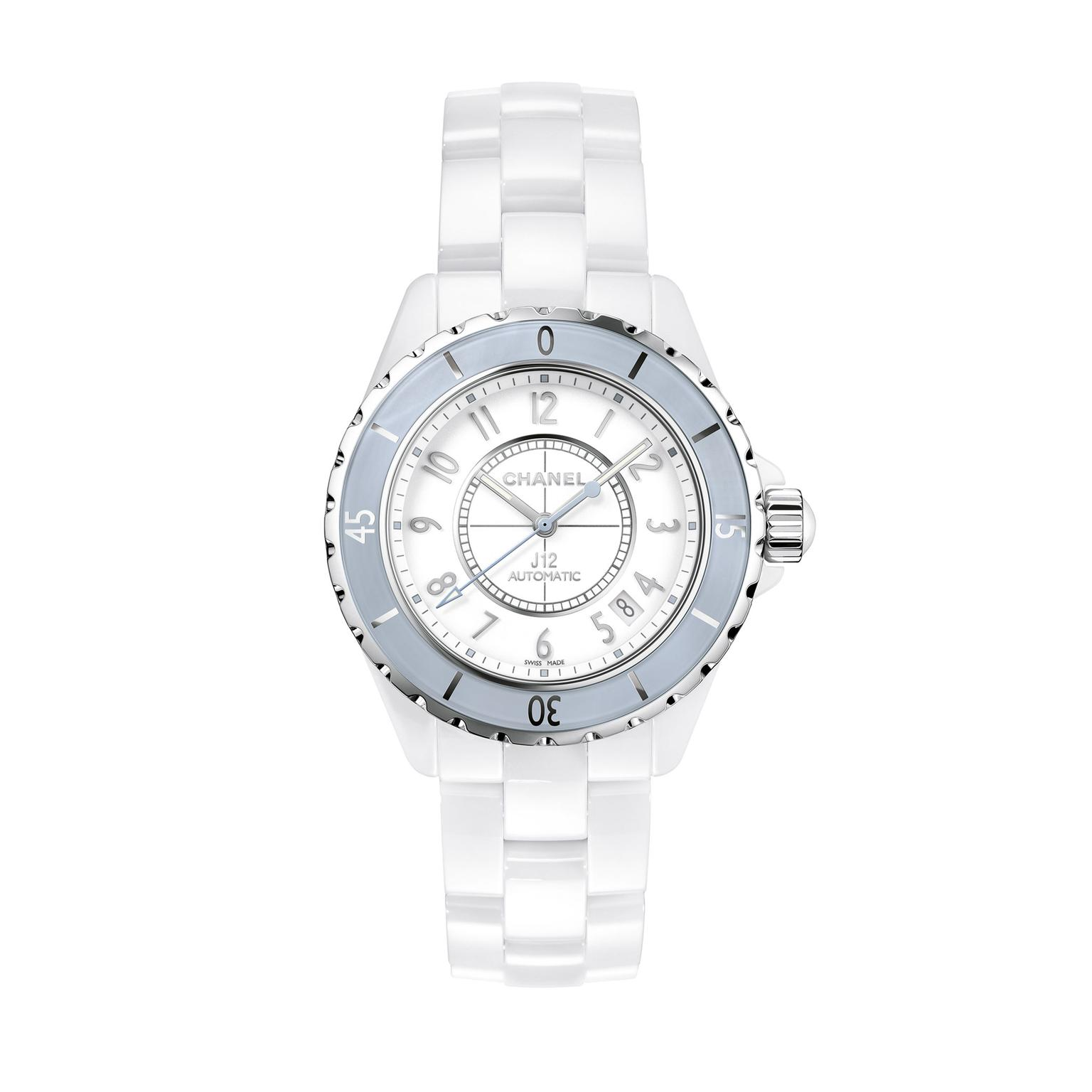Chanel J12 38mm Soft Blue ladies watch_zoom